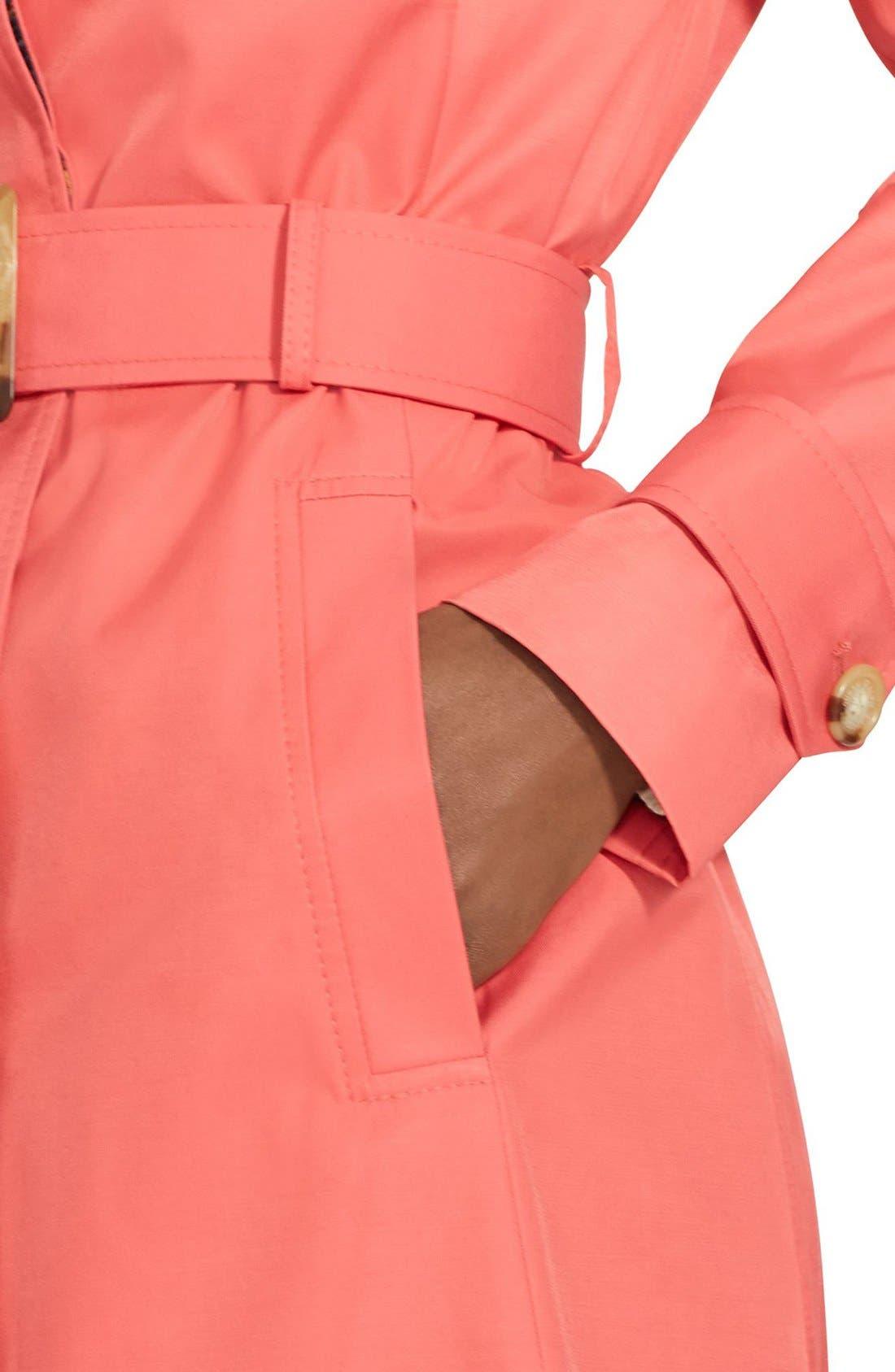 Alternate Image 4  - Lauren Ralph Lauren Belted Hooded Raincoat