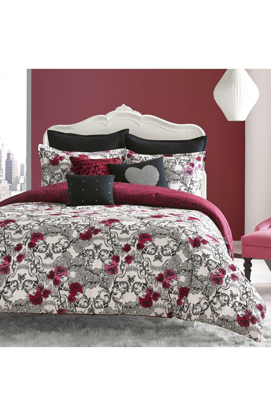 Alternate Image 2  - Betsey Johnson Bedding Rock Out Reversible Comforter & Sham Set