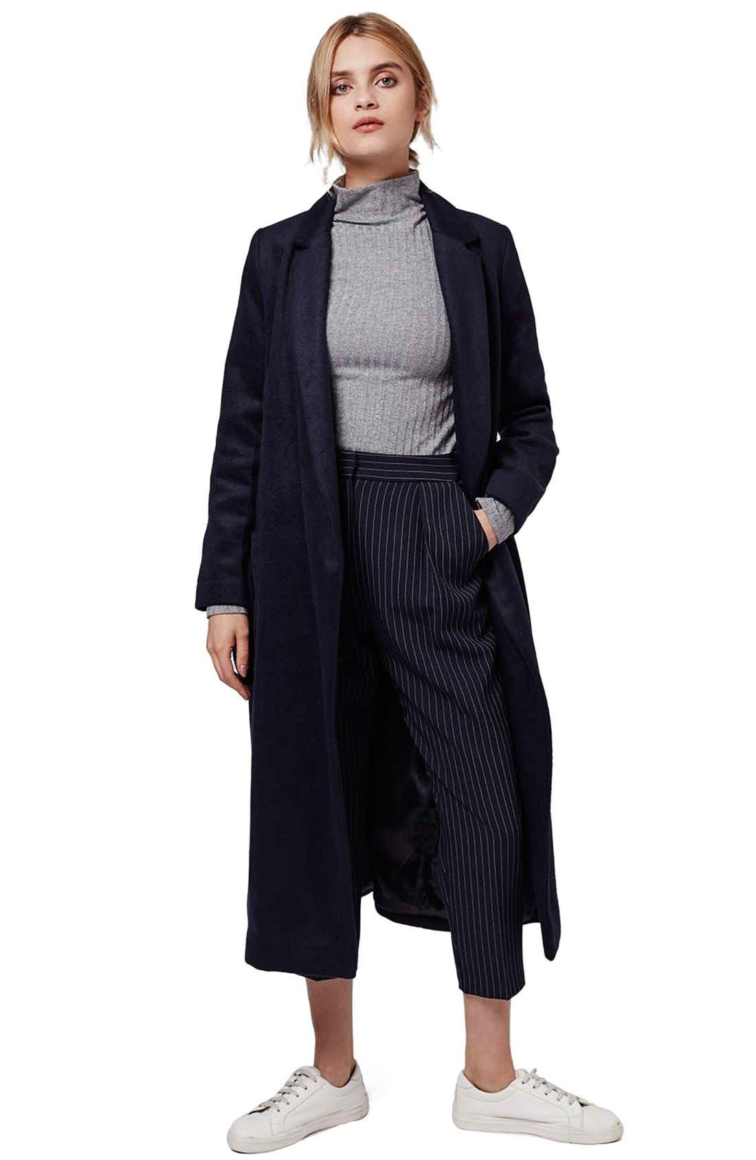 Alternate Image 5  - Topshop Pinstripe Crop Trousers (Petite)