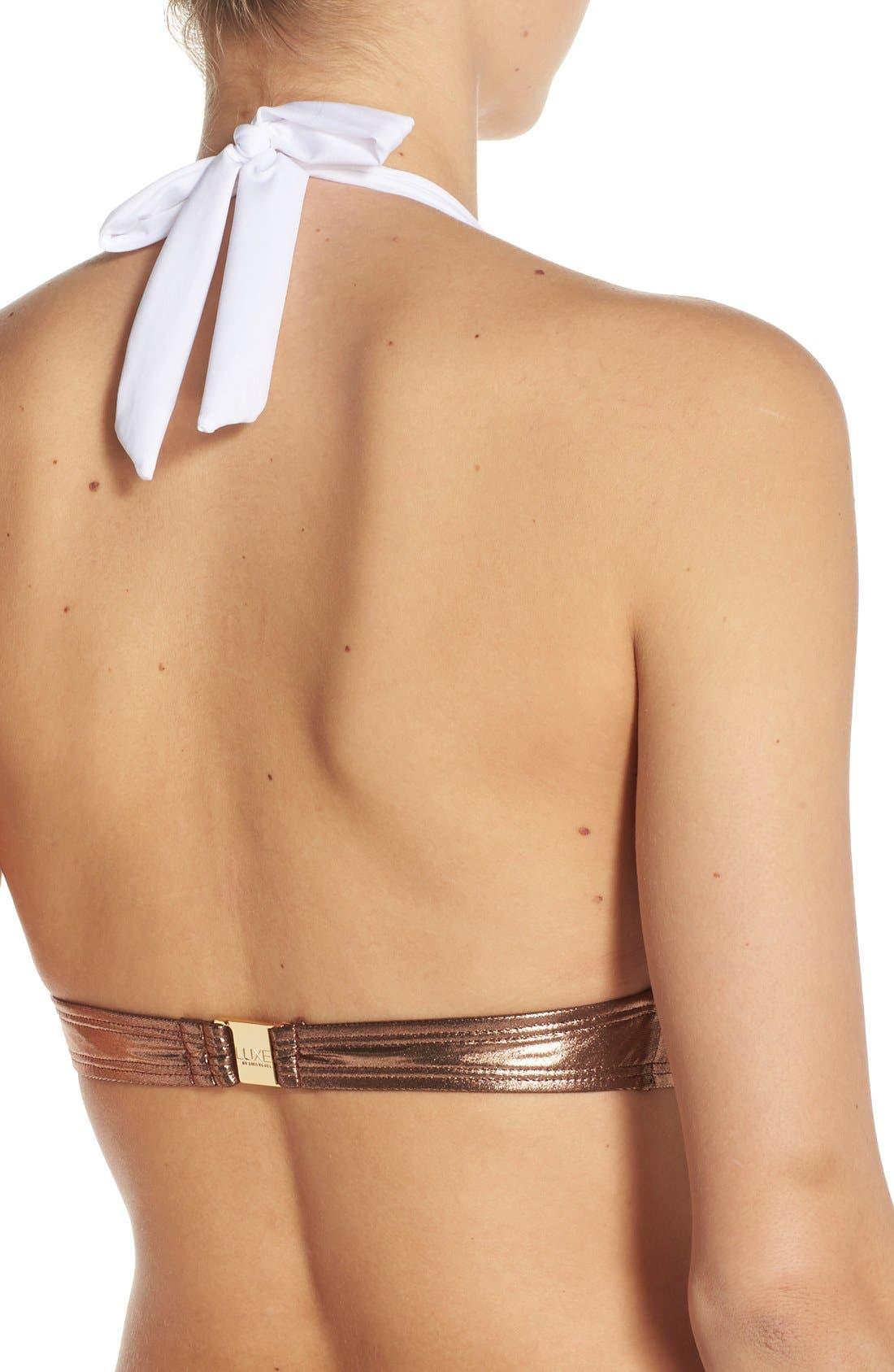 Alternate Image 2  - Luxe 'Premier' Halter Bikini Top