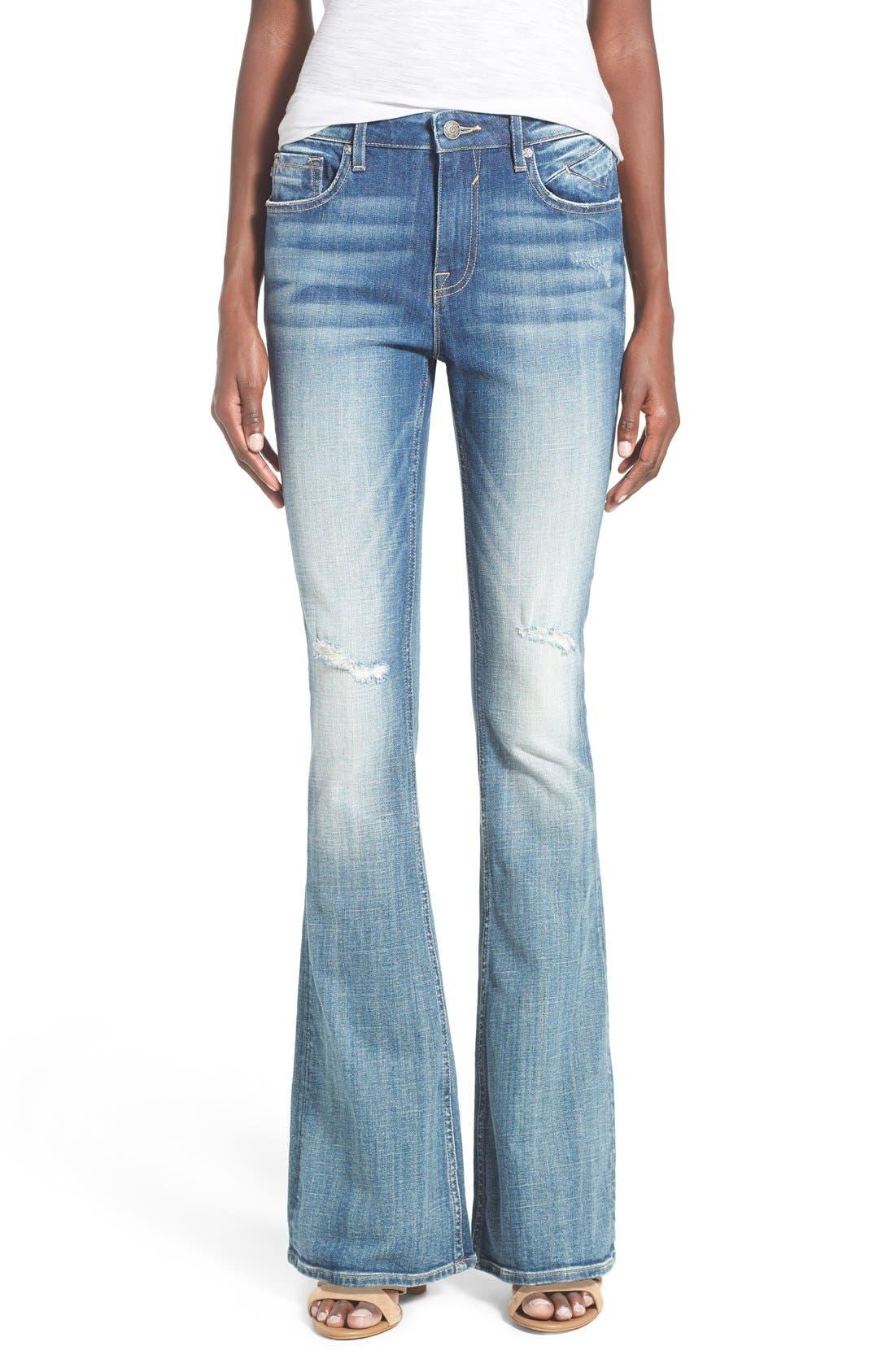 Main Image - Vigoss 'Chelsea' Flare Jeans (Medium Wash)