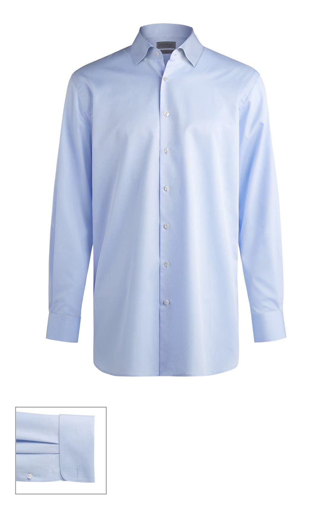 John W. Nordstrom® Made to Measure Traditional Fit Spread Collar Solid Dress Shirt