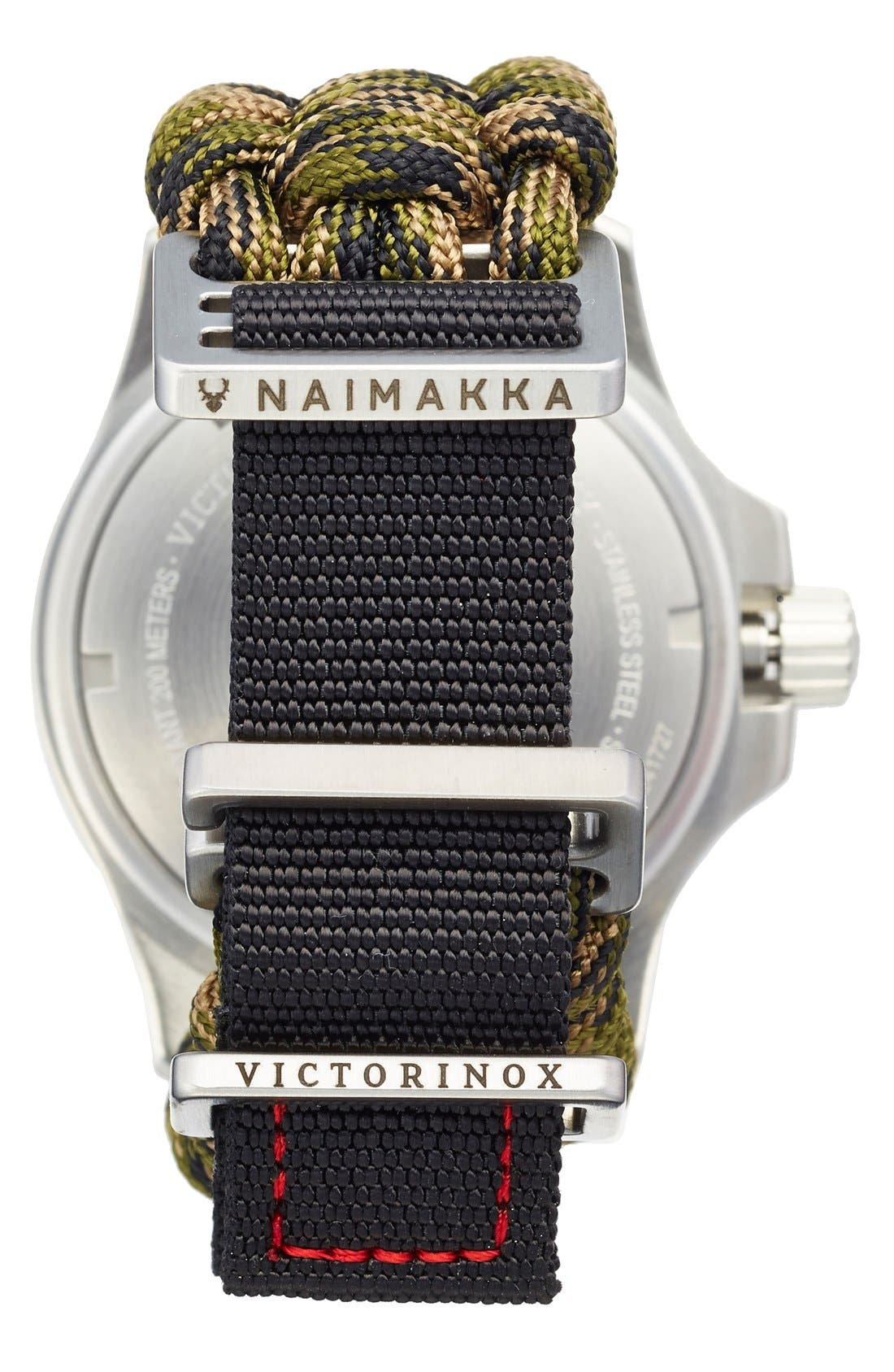 Alternate Image 2  - Victorinox Swiss Army® 'I.N.O.X.' Paracord Strap Watch, 43mm
