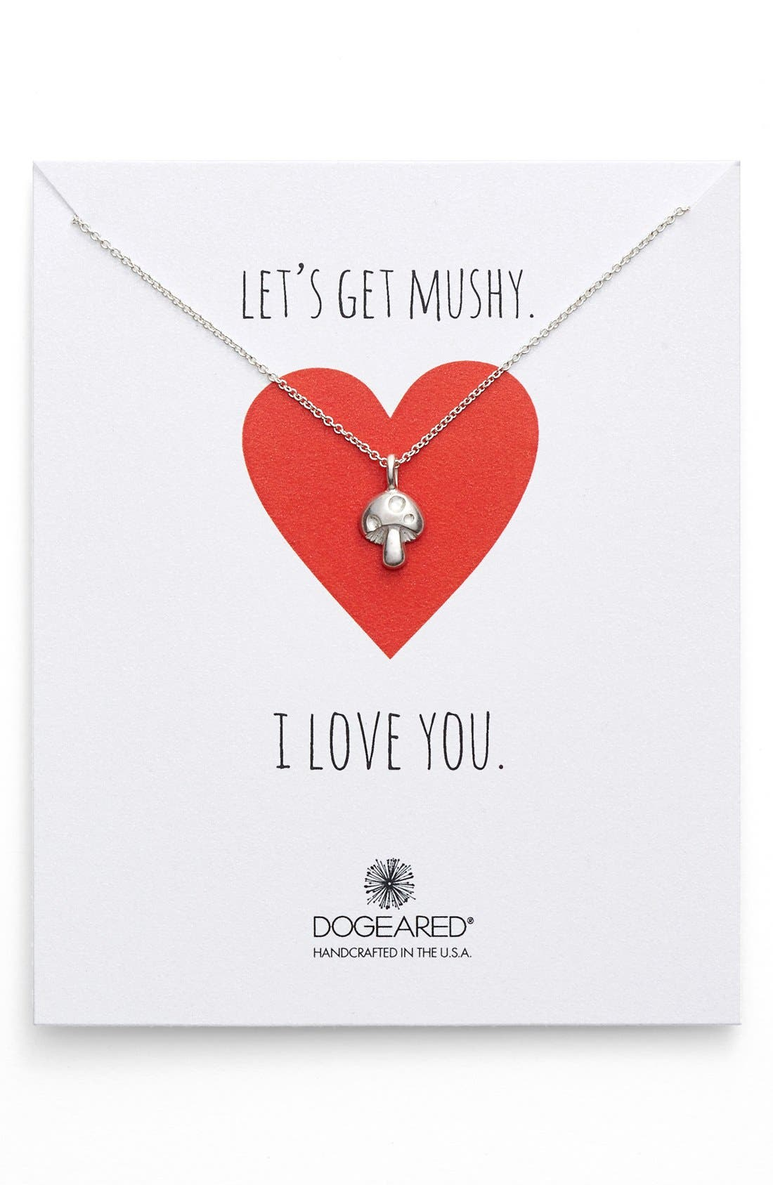 Alternate Image 1 Selected - Dogeared 'Let's Get Mushy' Mushroom Pendant Necklace (Nordstrom Exclusive)