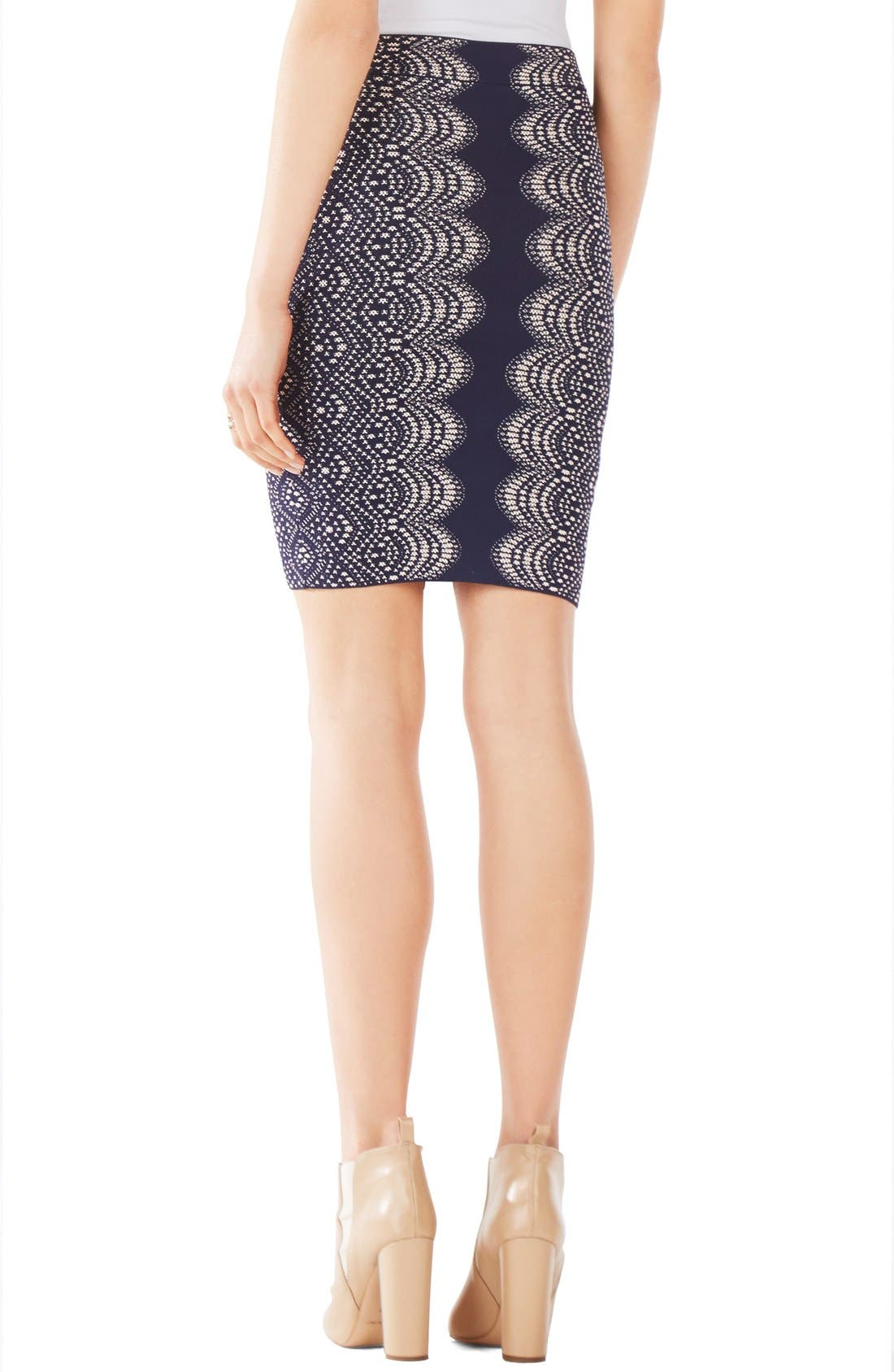 Alternate Image 2  - BCBGMAXAZRIA 'Pavel' Jacquard Sweater Pencil Skirt