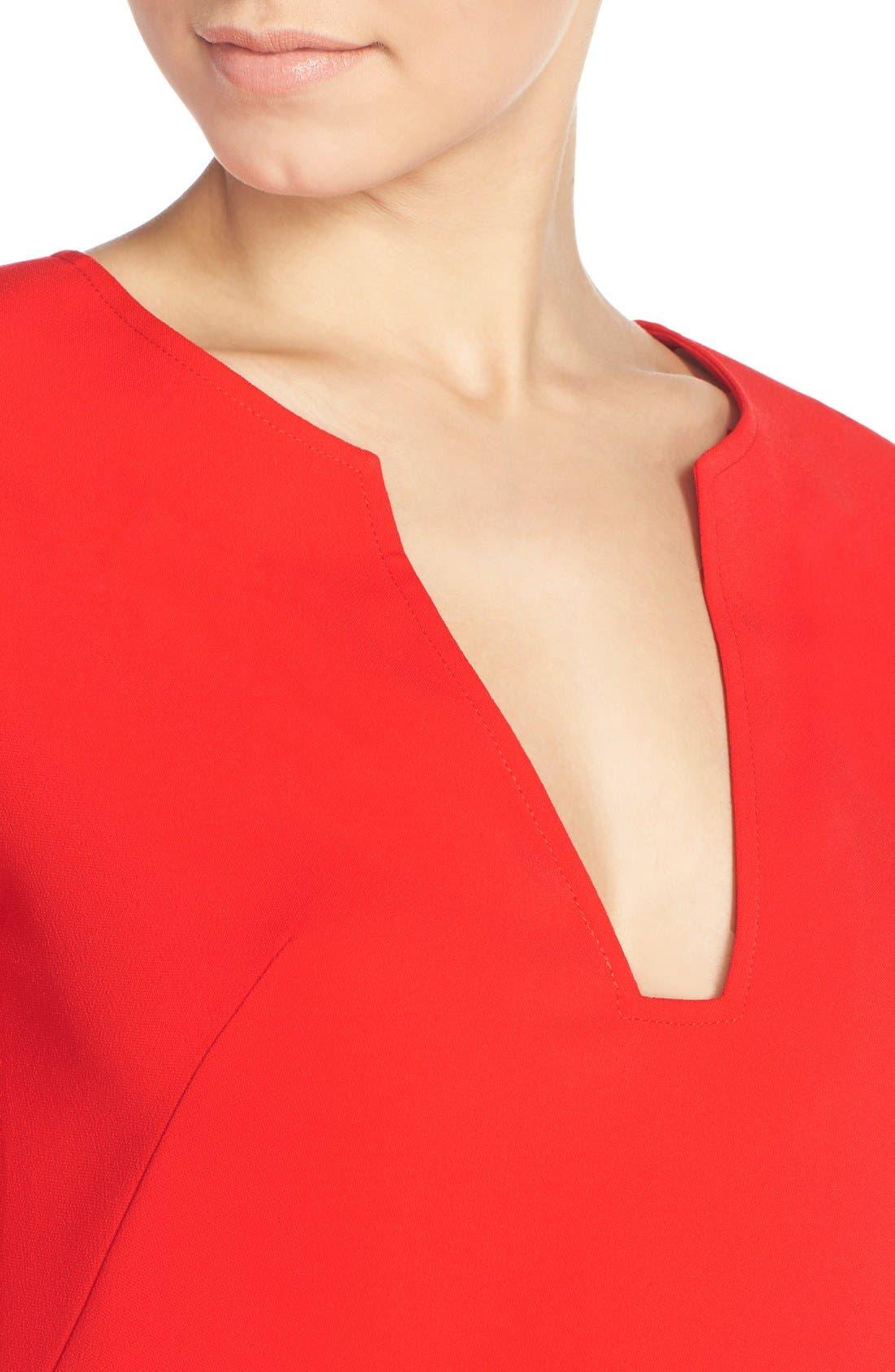 Alternate Image 4  - Amanda Uprichard Stretch Crepe A-Line Dress