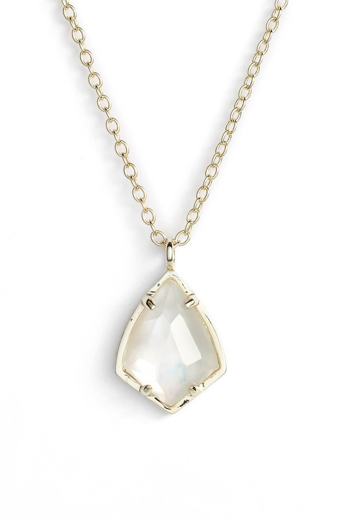 Alternate Image 1 Selected - Kendra Scott 'Cory' Semiprecious Stone Pendant Necklace