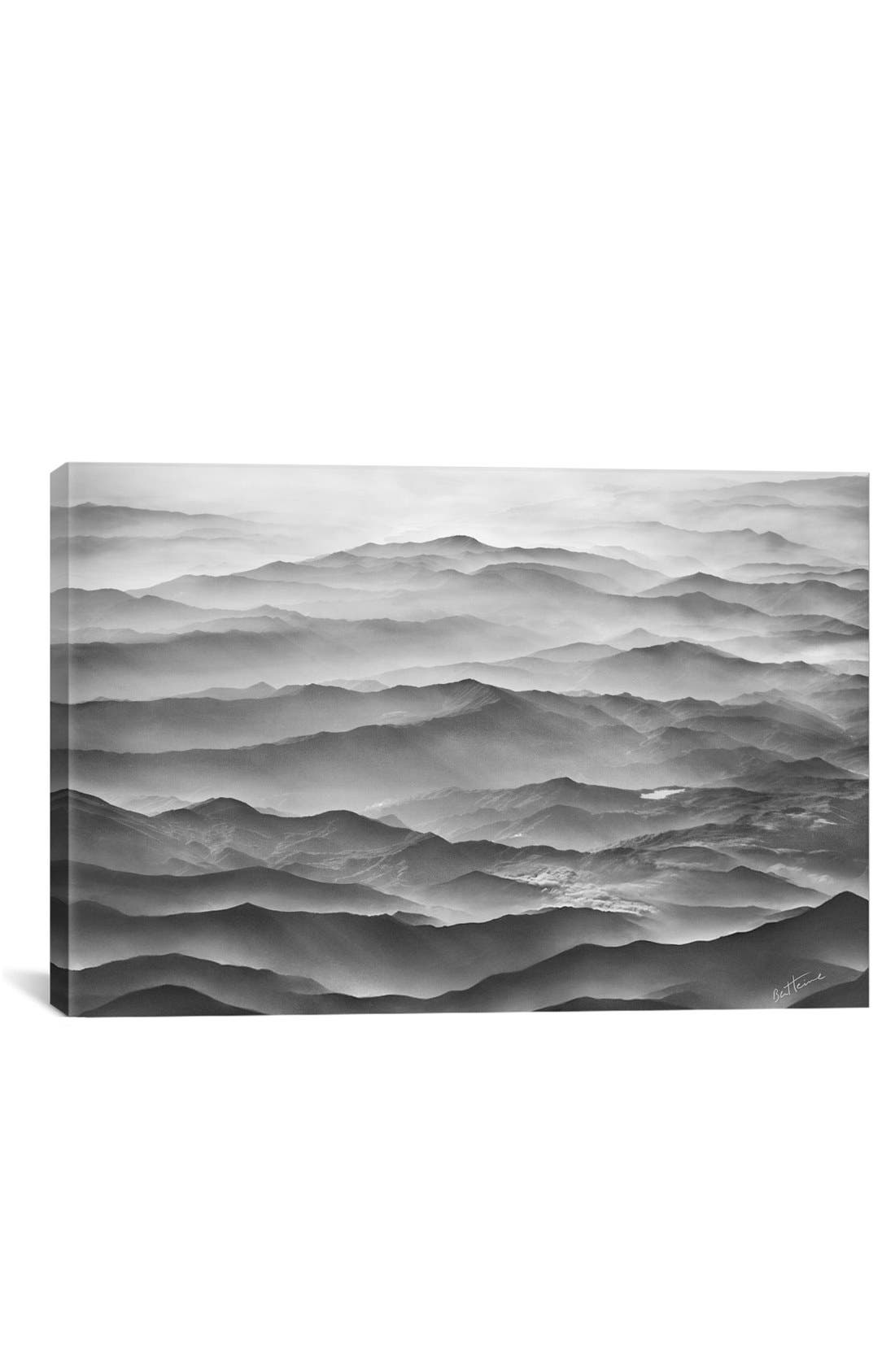 iCanvas 'Ocean Mountains - Ben Heine' Giclée Print Canvas Art