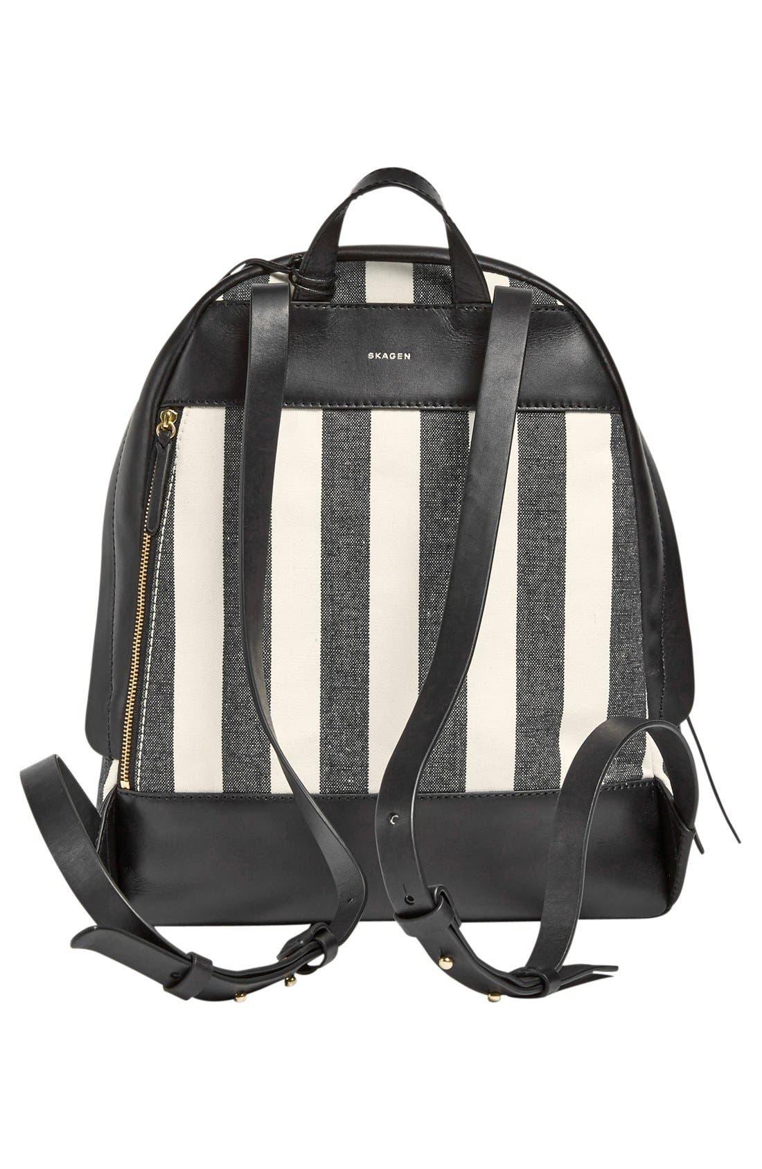 Alternate Image 2  - Skagen 'Aften' Stripe Canvas Backpack