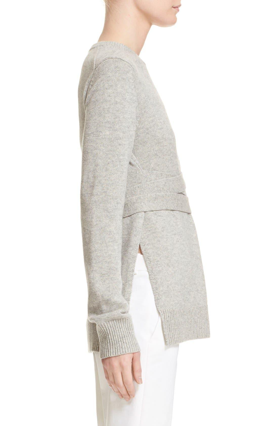 Alternate Image 6  - Michael Kors Wrap Belt Cashmere Sweater