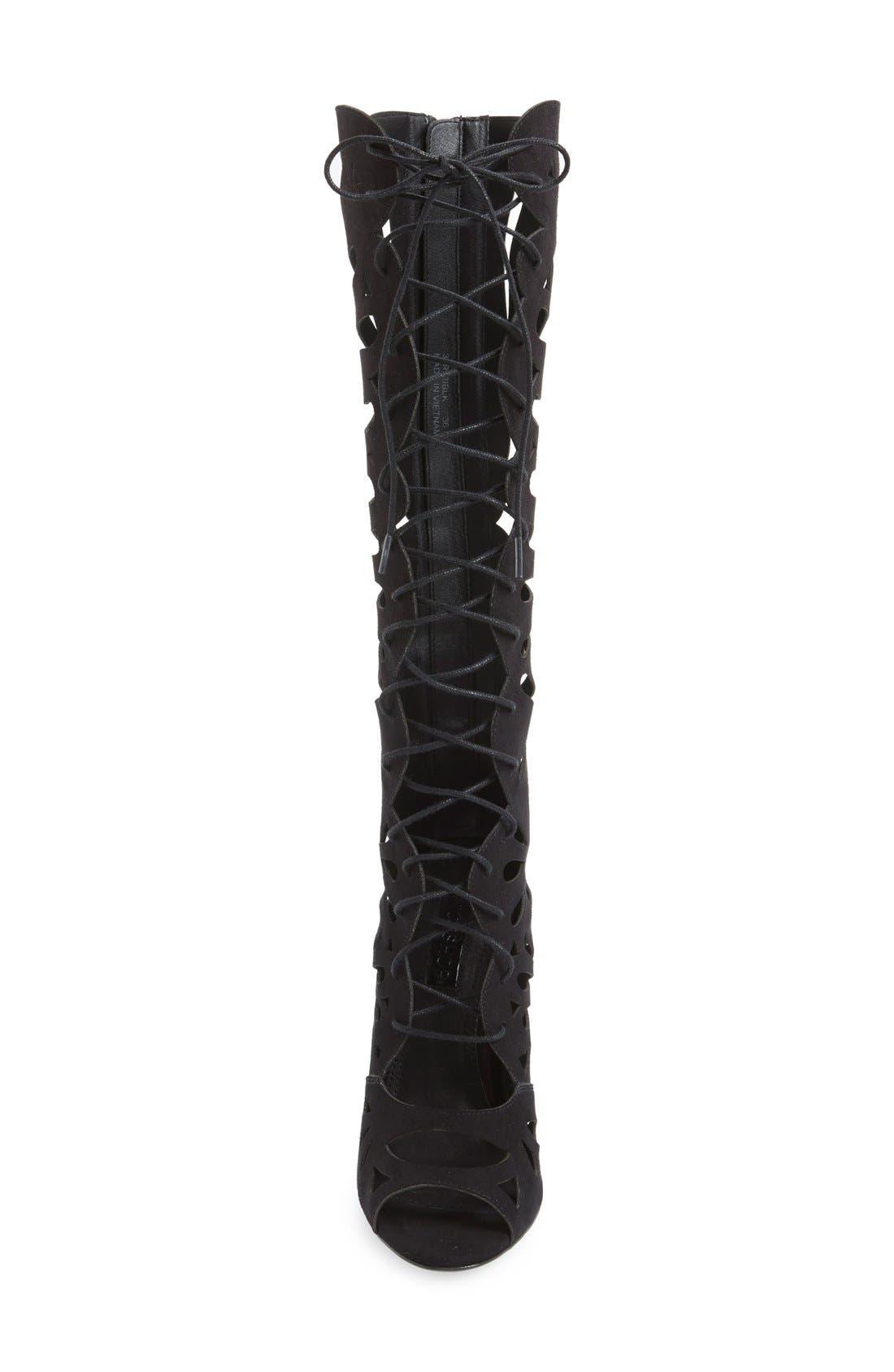 Alternate Image 3  - Topshop 'Ravishing' Cutout Lace-Up Peep Toe Boot (Women)