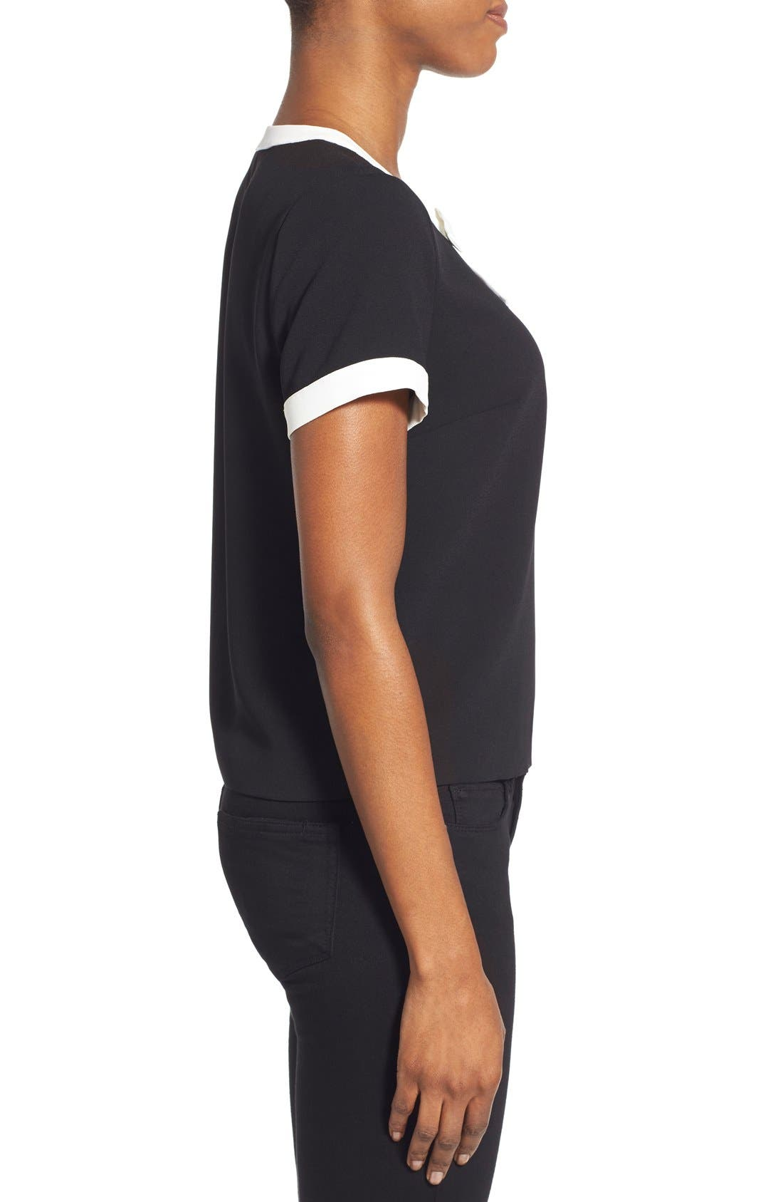 Alternate Image 3  - CeCe by Cynthia Steffe Contrast Bow Crepe Blouse