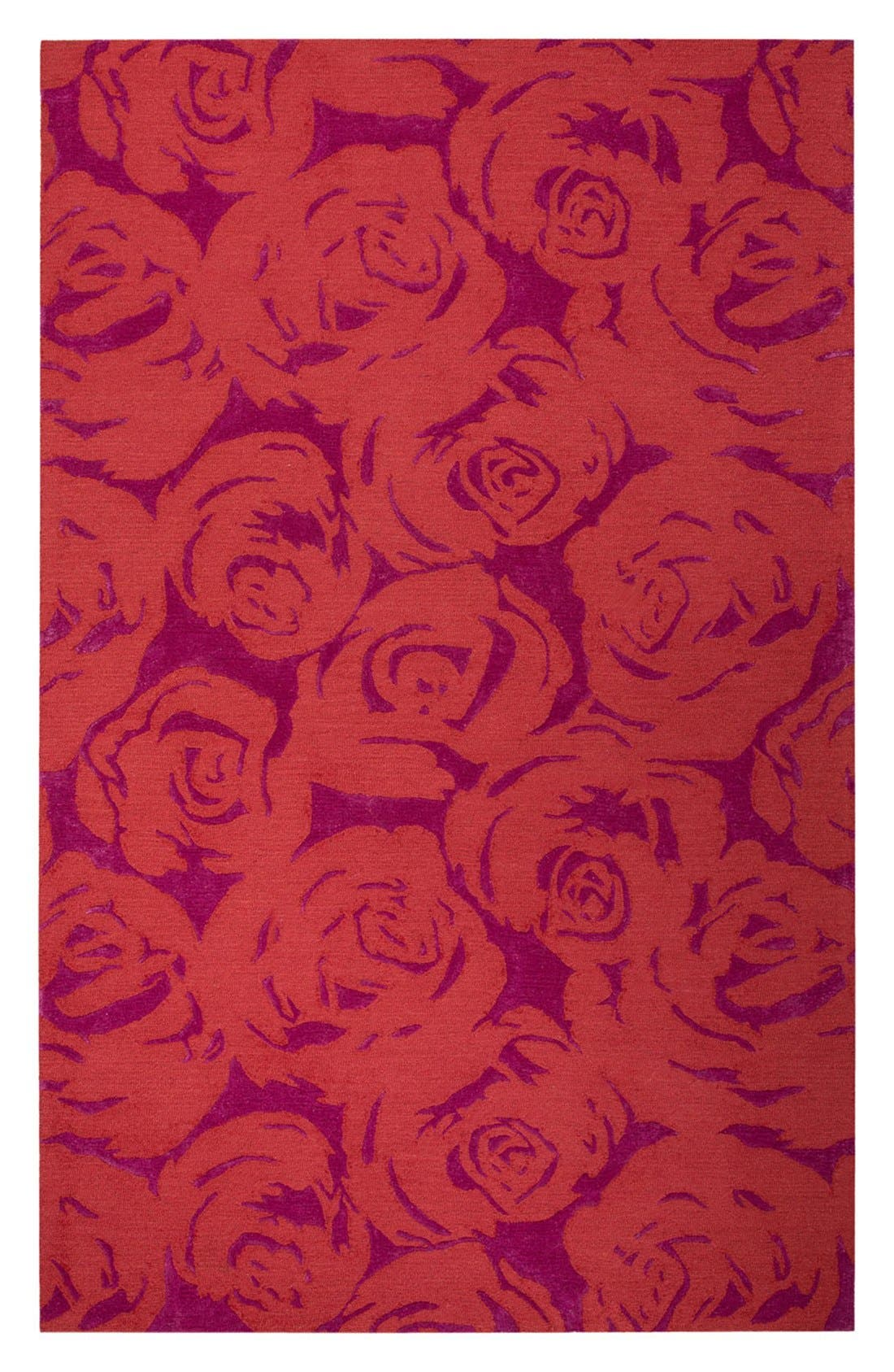 kate spade new york 'gramercy - floral' wool & silk rug