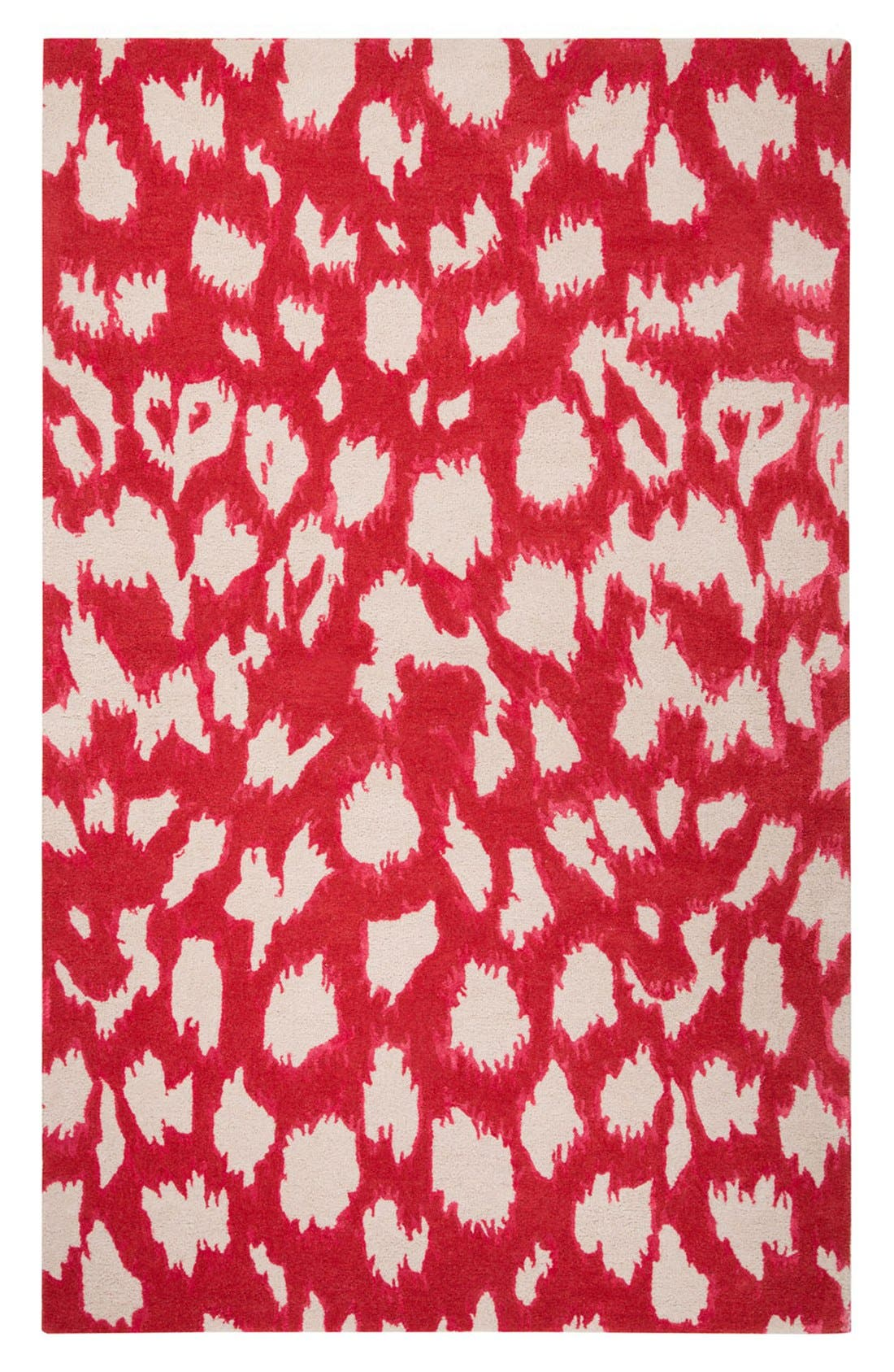 kate spade new york 'gramercy - animal print' wool & silk rug