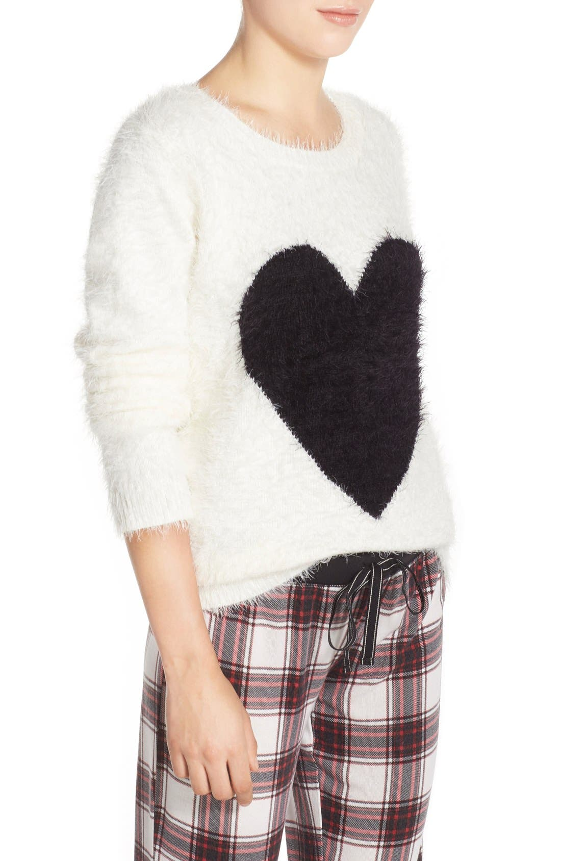 Alternate Image 3  - PJ Salvage Heart Front Sweater