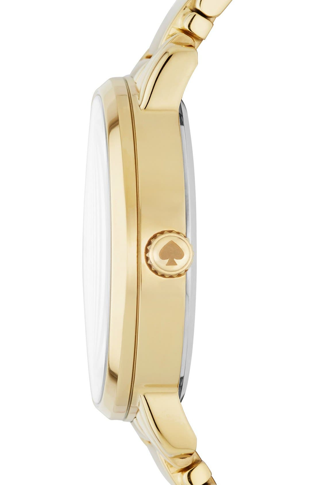 Alternate Image 2  - kate spade new york 'gramercy - chalkboard' bracelet watch, 34mm