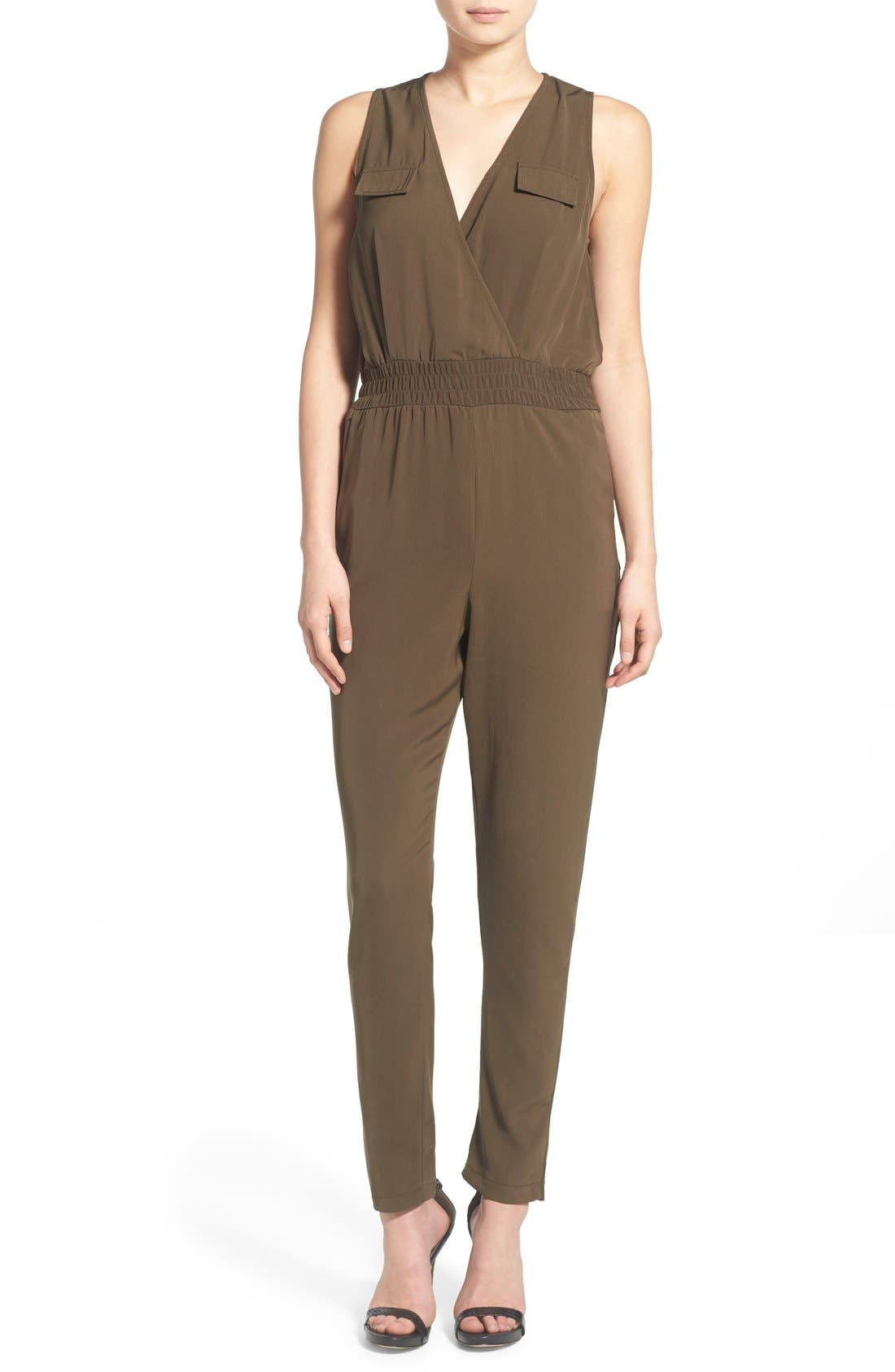 Alternate Image 1 Selected - Missguided Surplice Utility Jumpsuit