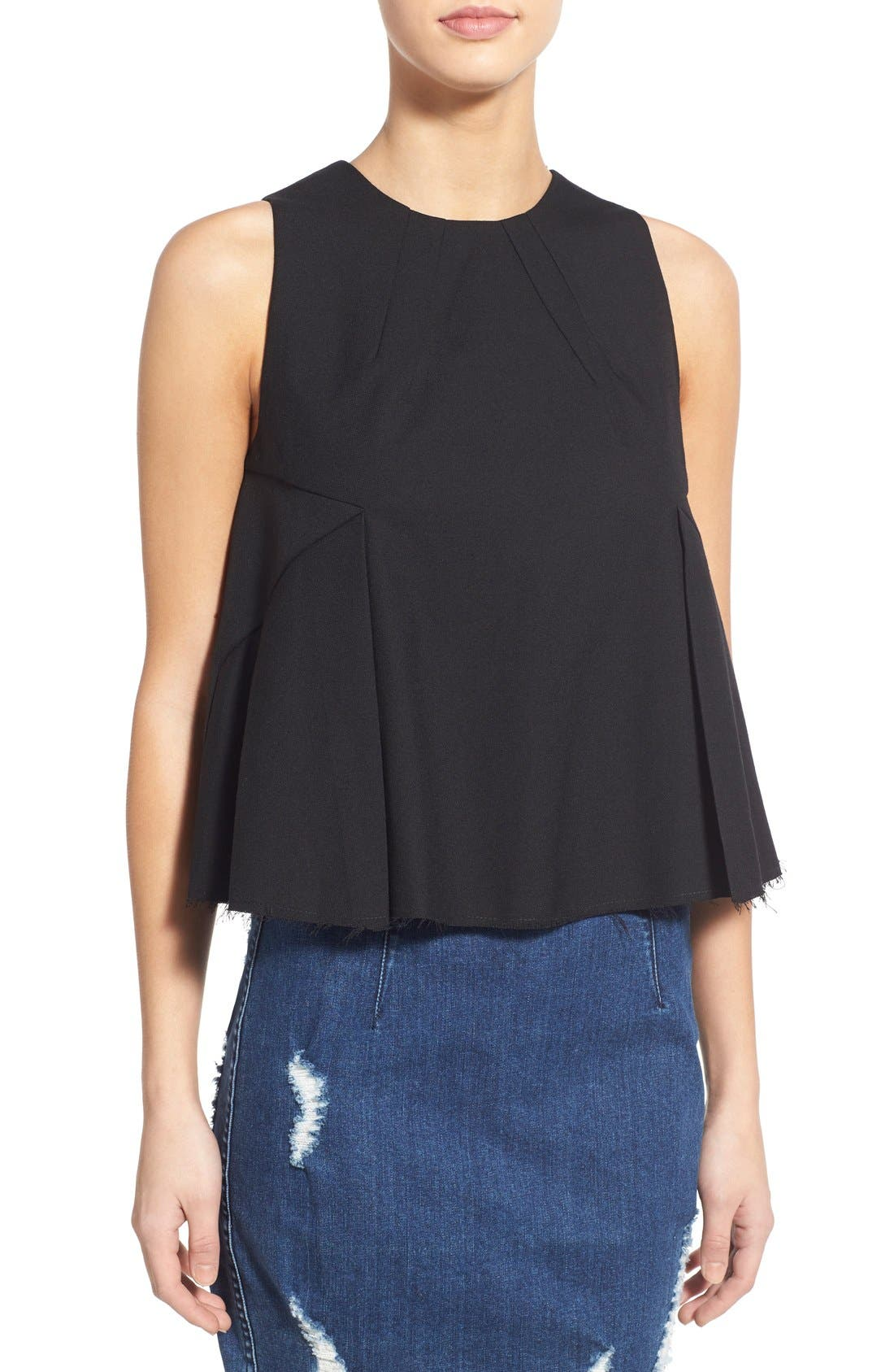 Main Image - KENDALL + KYLIE Raw Edge Tank