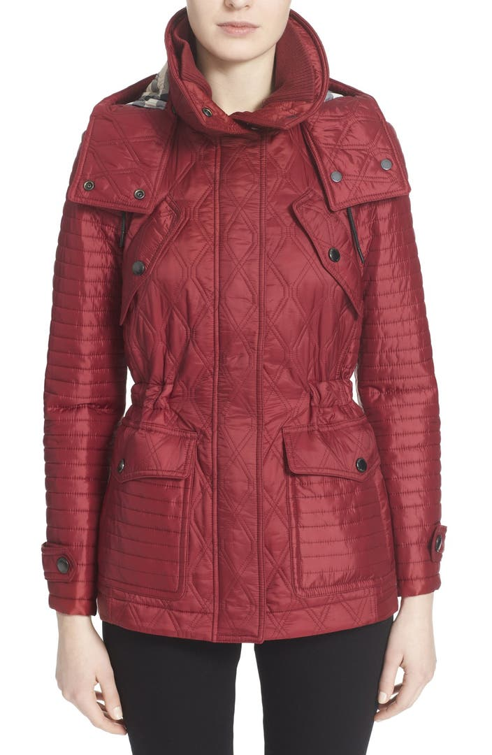 Burberry Brit 'Short Bosworth' Quilted Jacket