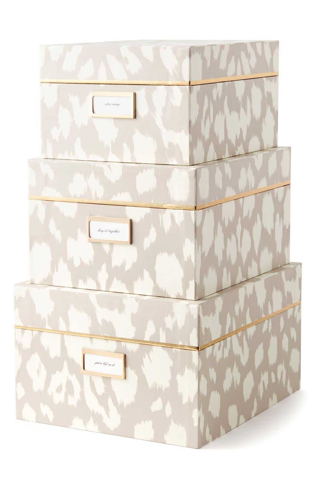 Alternate Image 1 Selected - kate spade new york storage nesting boxes (set of 3)