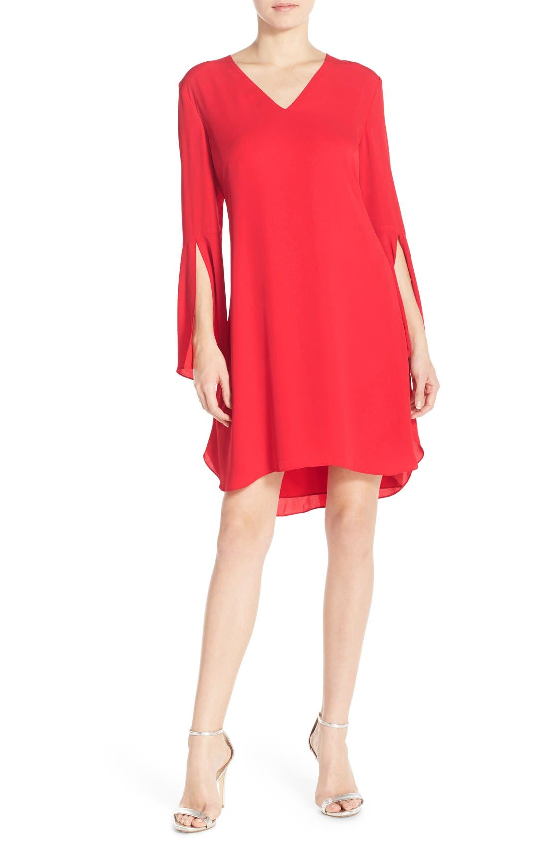 Alternate Image 3  - Chelsea28 Bell Sleeve Chiffon A-Line Dress