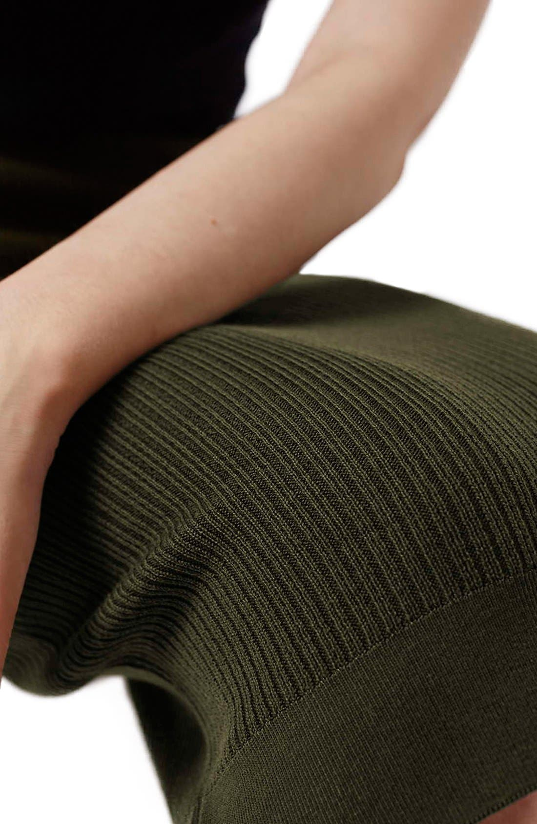Alternate Image 5  - Topshop Ribbed Body-Con Midi Skirt