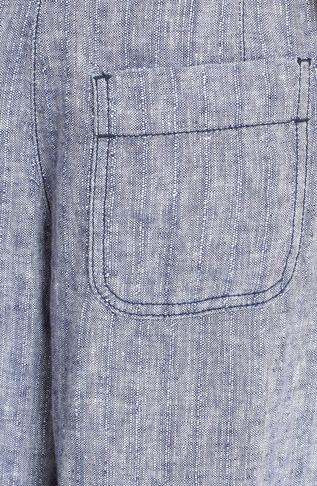 Alternate Image 6  - Free People 'Sani' Linen Culottes