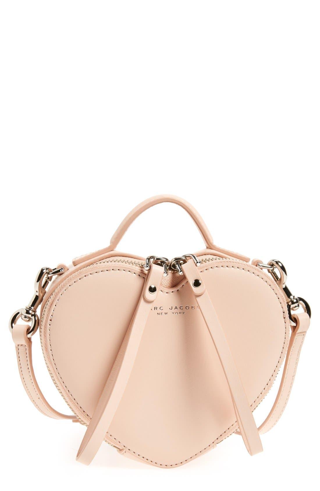 Main Image - MARC JACOBS Heart Leather Crossbody Bag