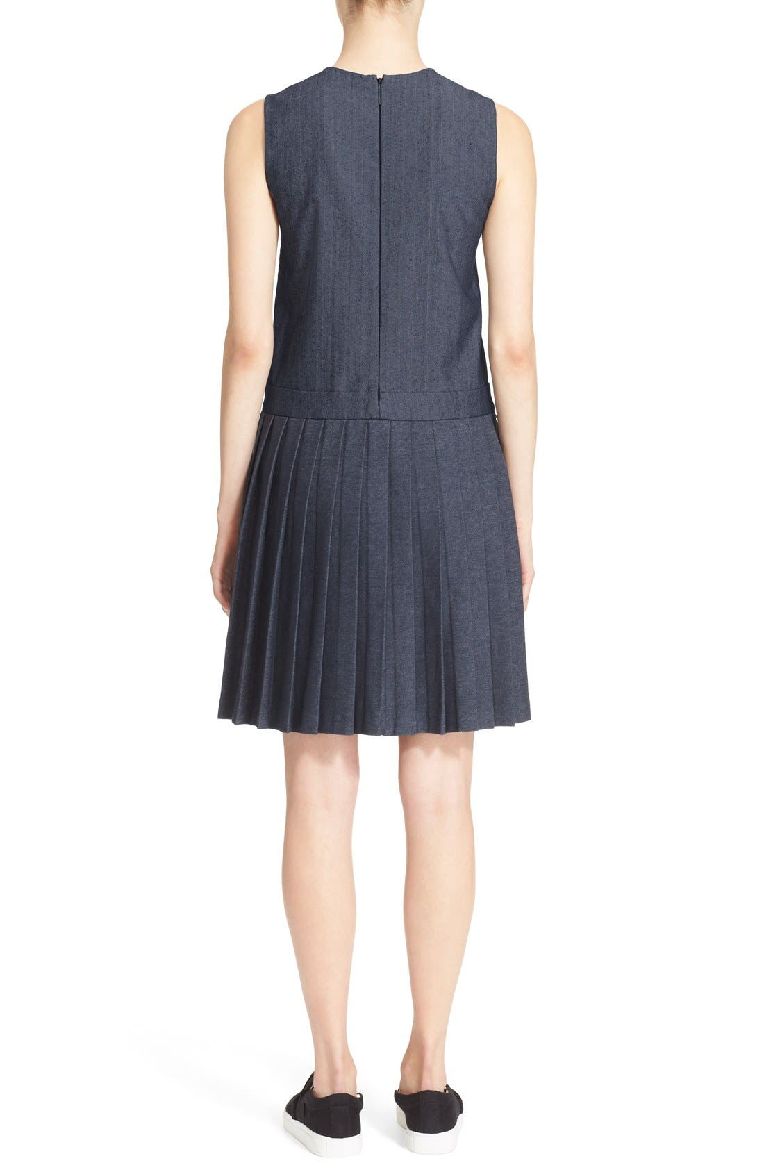 Alternate Image 2  - MSGM Pleat Bottom Sleeveless Shift Dress