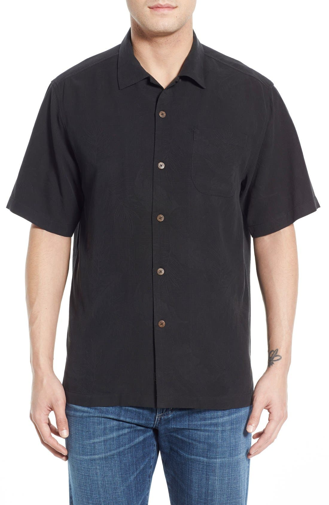 Tommy Bahama 'Rio Fronds' Regular Fit Silk Camp Shirt