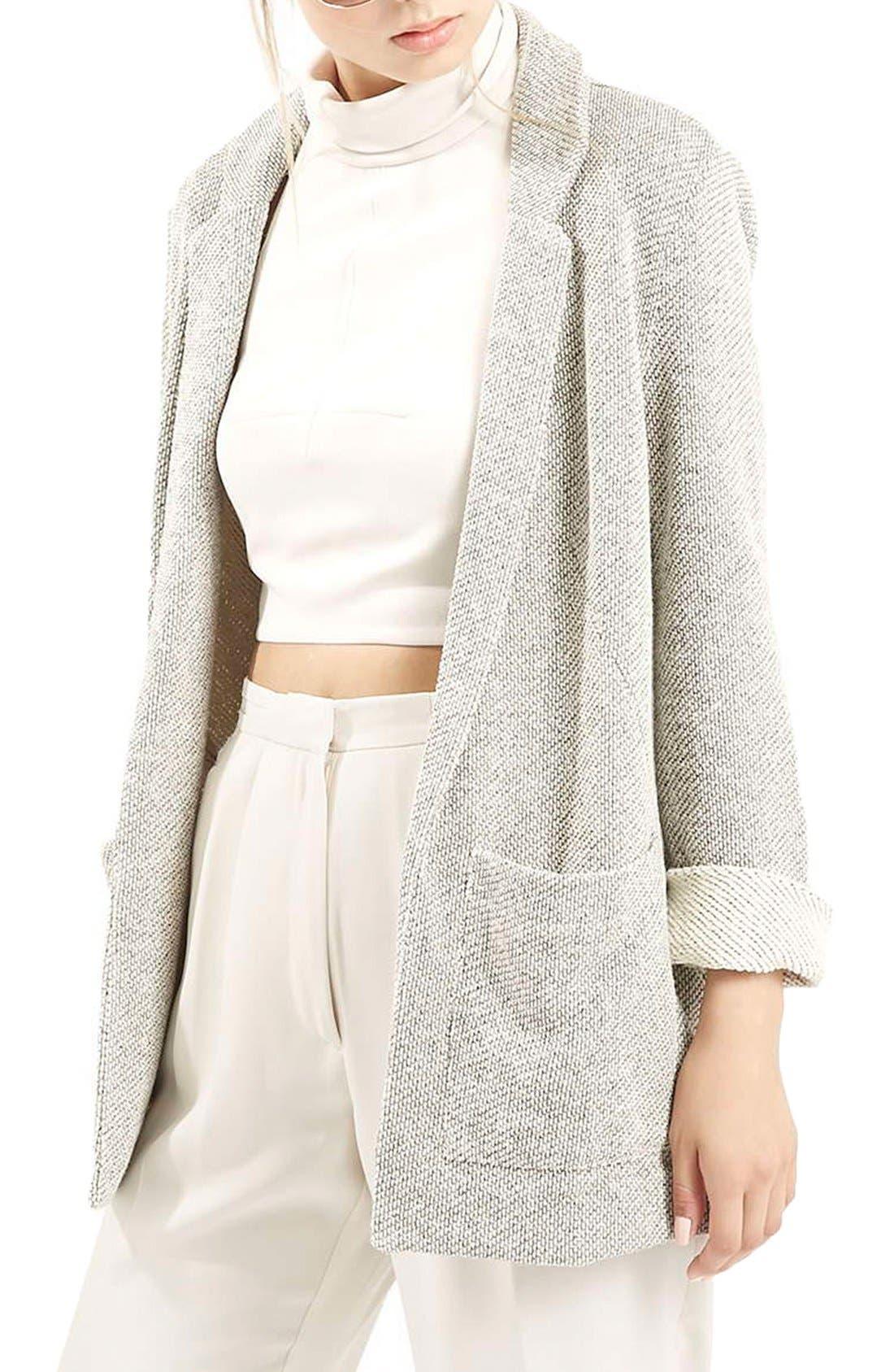 Alternate Image 1 Selected - Topshop Knit Boyfriend Jacket