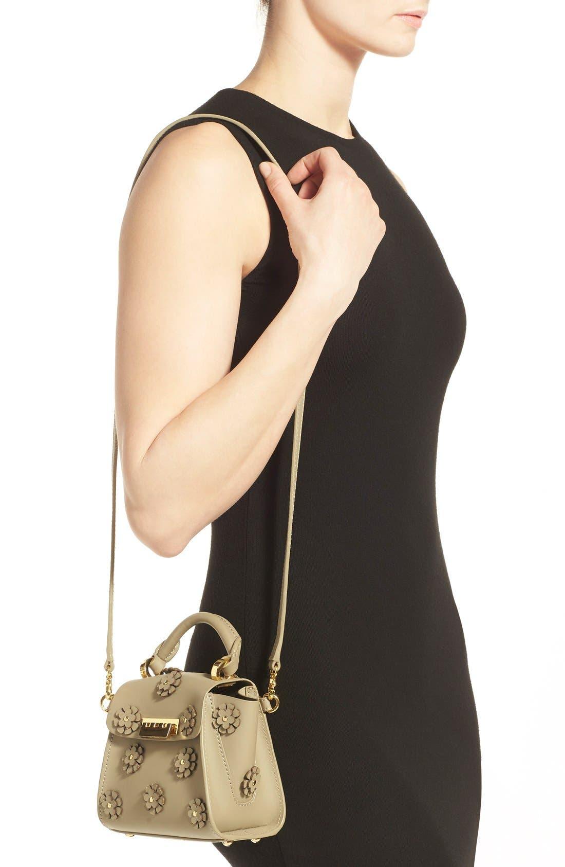 Alternate Image 2  - ZAC Zac Posen 'Mini Eartha' Embellished Leather Top Handle Satchel