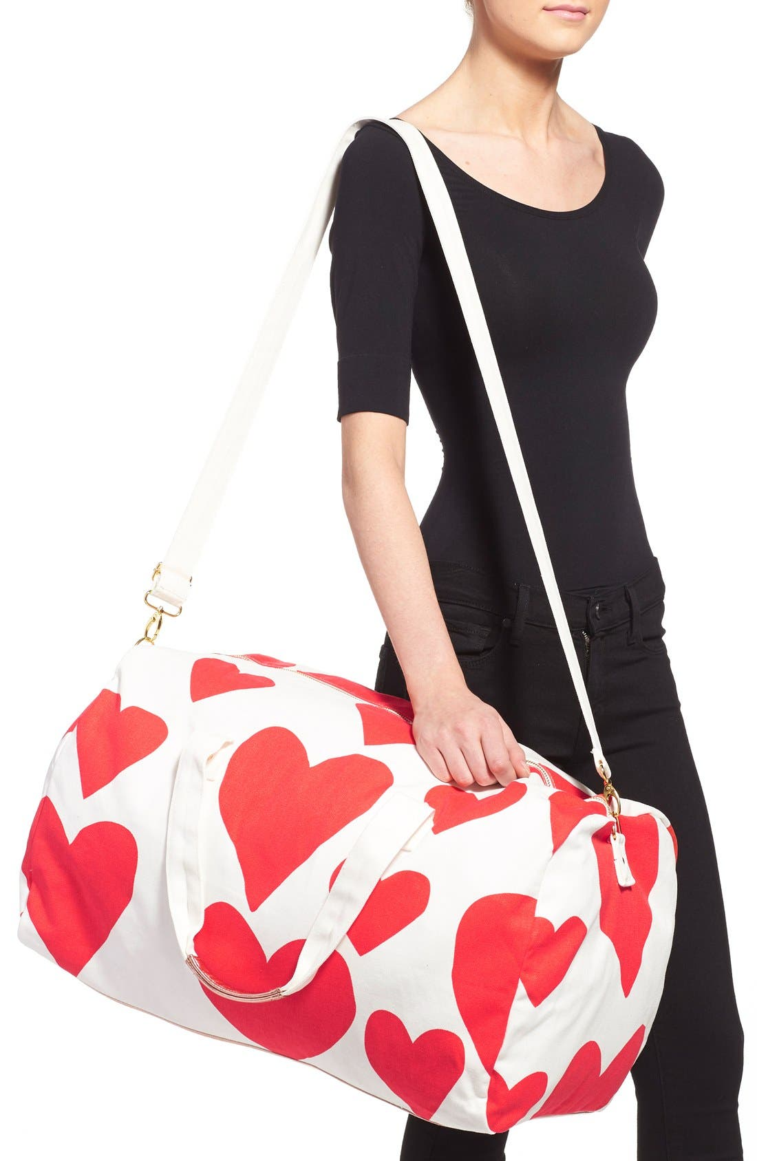 Alternate Image 2  - ban.do 'Extreme Hearts' Canvas Duffel Bag