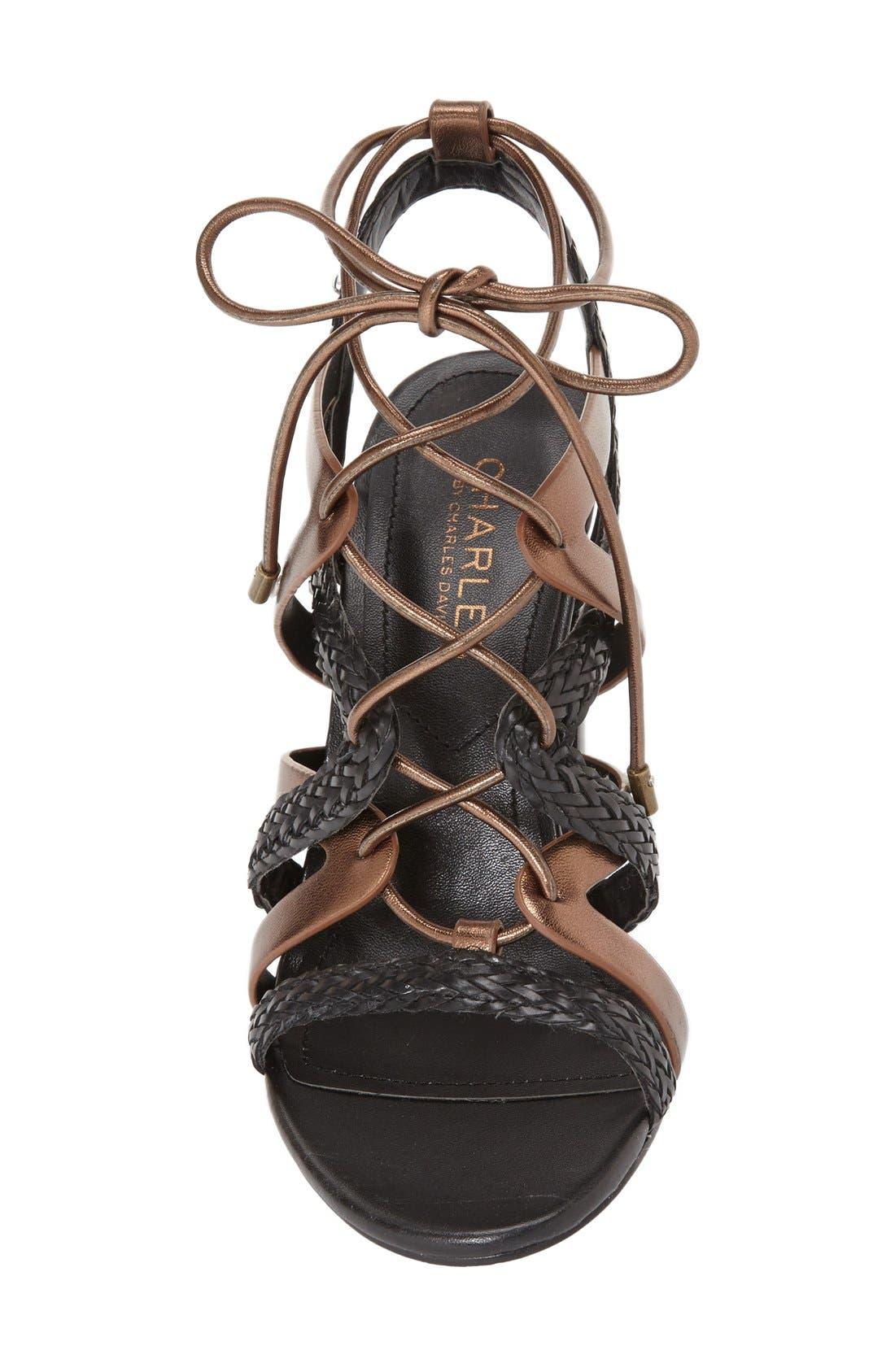 Alternate Image 3  - Charles by Charles David 'Greensboro' Lace-Up Block Heel Sandal (Women)