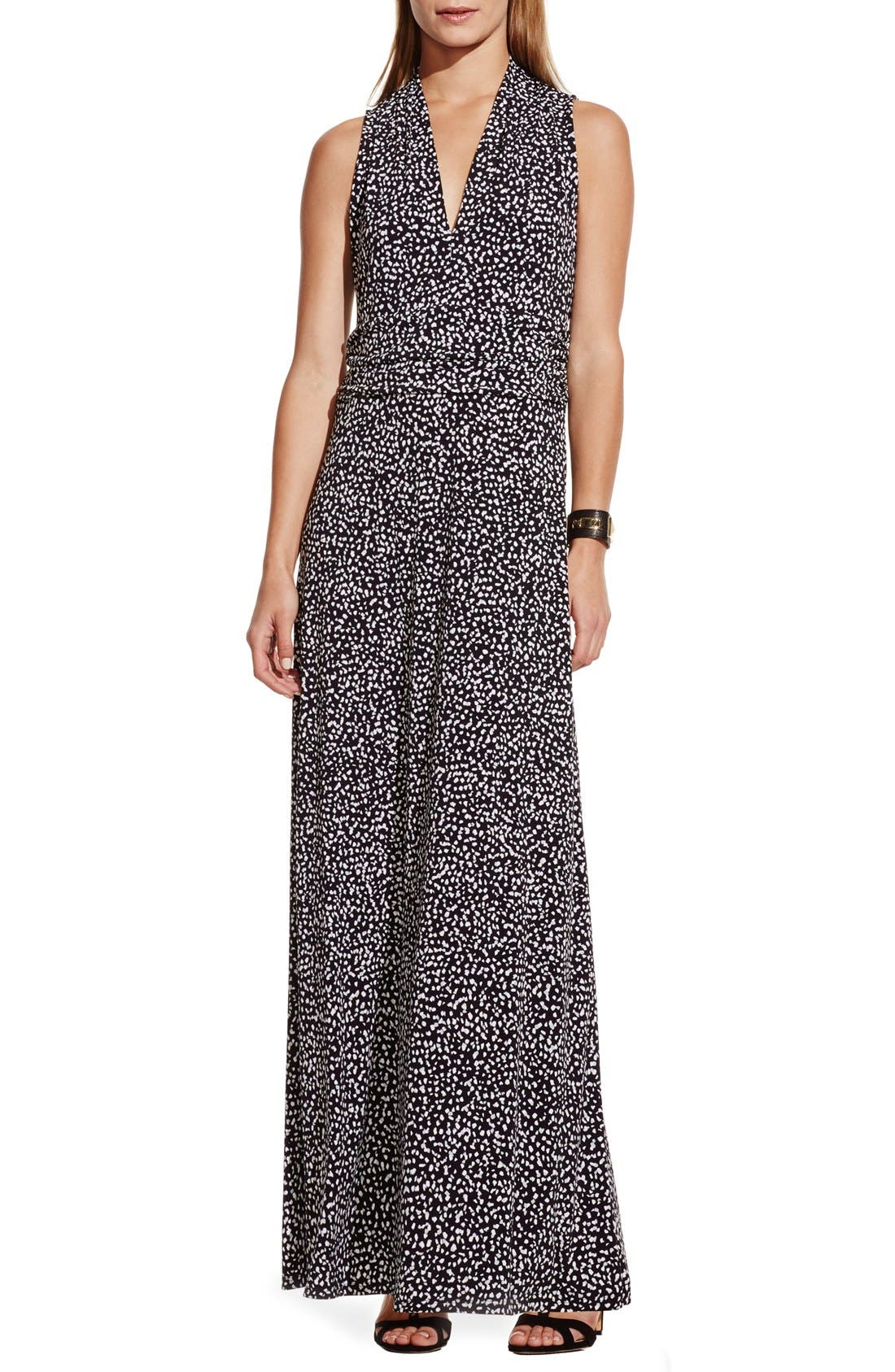 Alternate Image 1 Selected - Vince Camuto Dot Print V-Neck Maxi Dress
