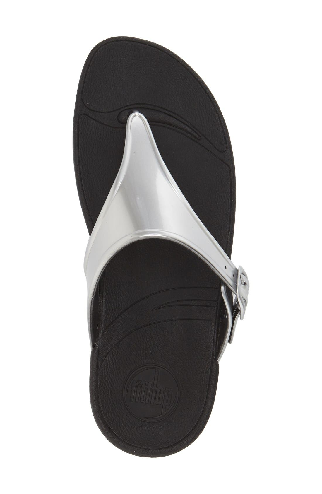 Alternate Image 3  - FitFlop™ 'Superjelly' Metallic Flip Flop (Women)