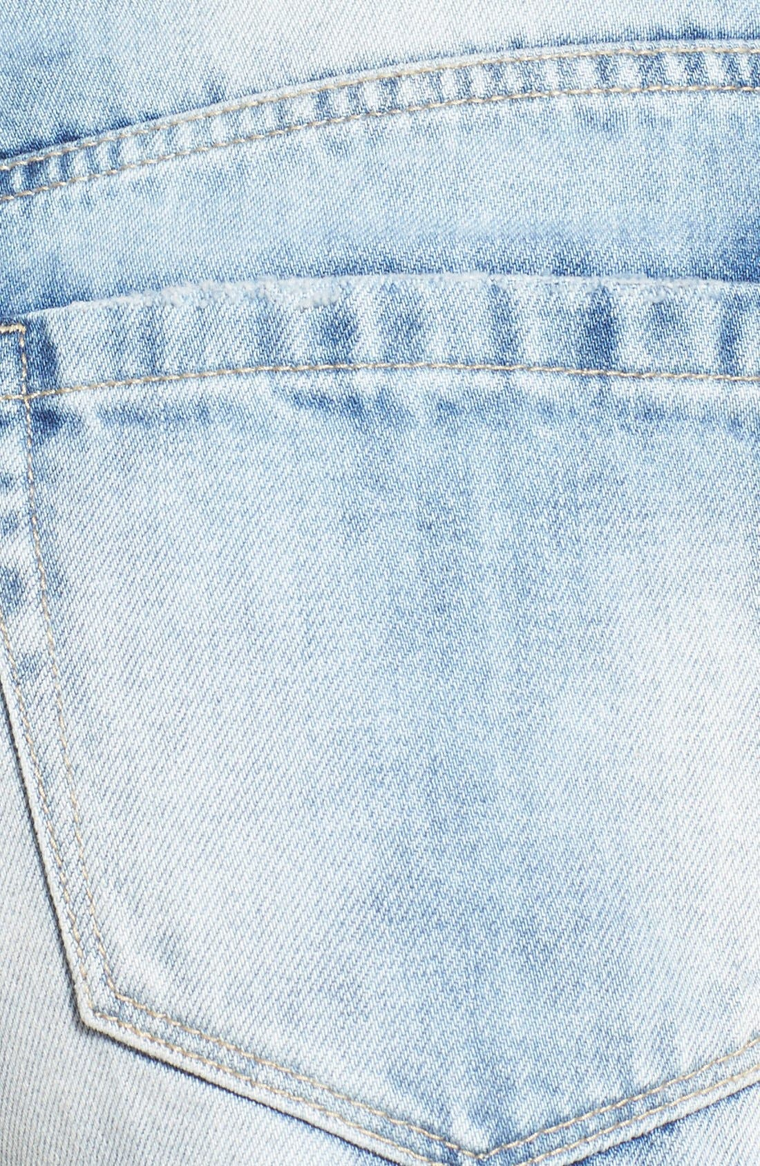 Alternate Image 5  - BLANKNYC Distressed Cutoff Denim Shorts (All Night Long)