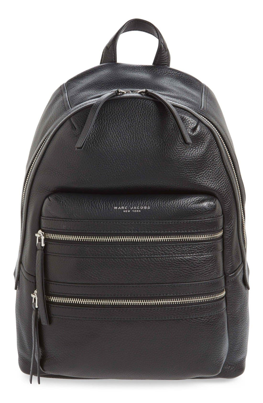 Alternate Image 1 Selected - MARC JACOBS Large Biker Leather Backpack