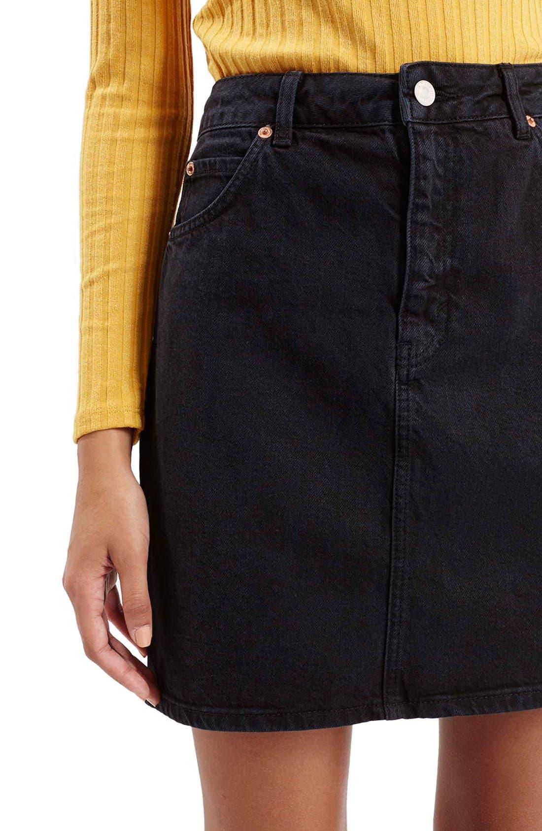 Alternate Image 5  - Topshop Denim A-Line Skirt