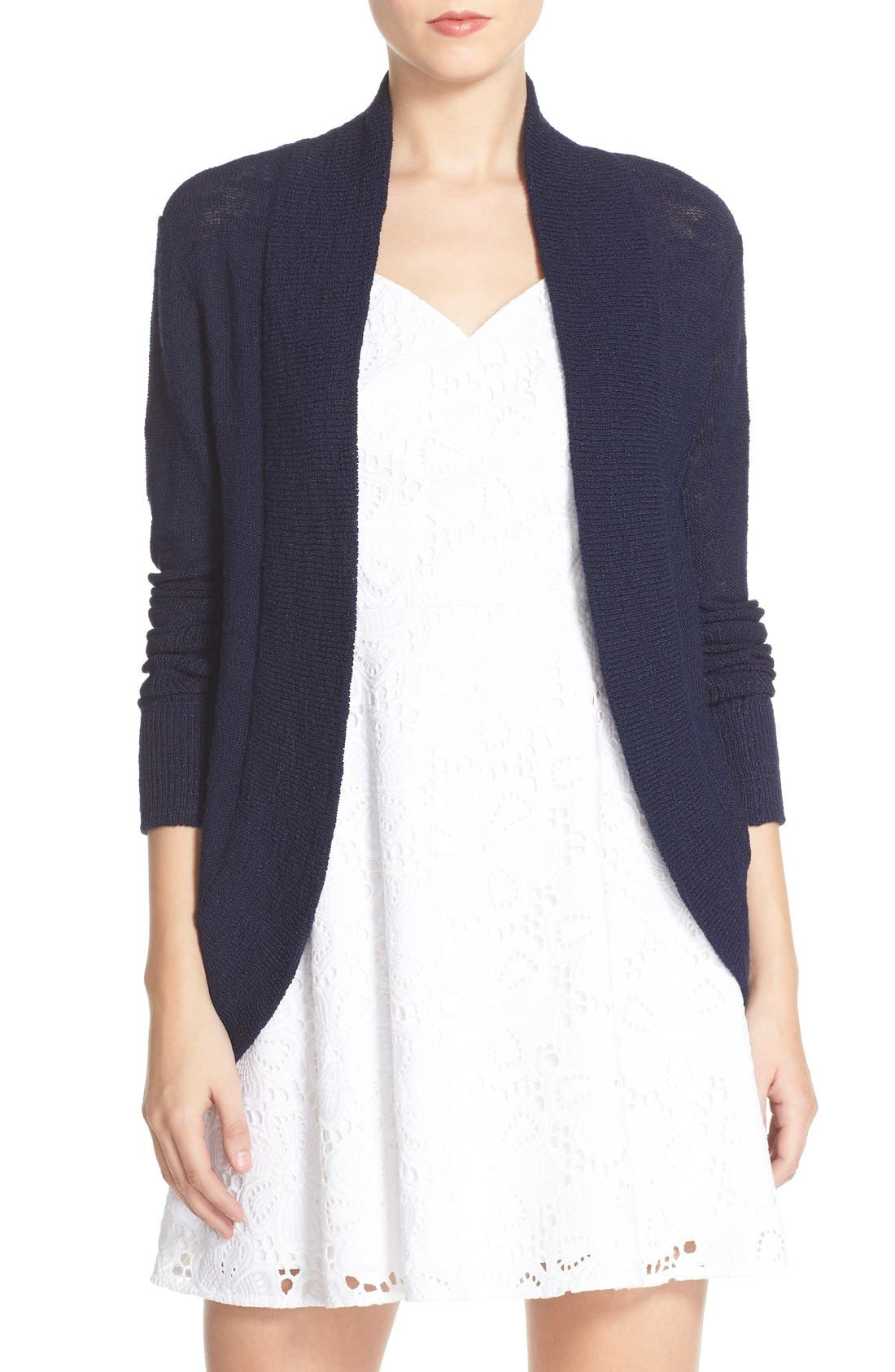 LILLY PULITZER® 'Amalie' Open Front Cardigan