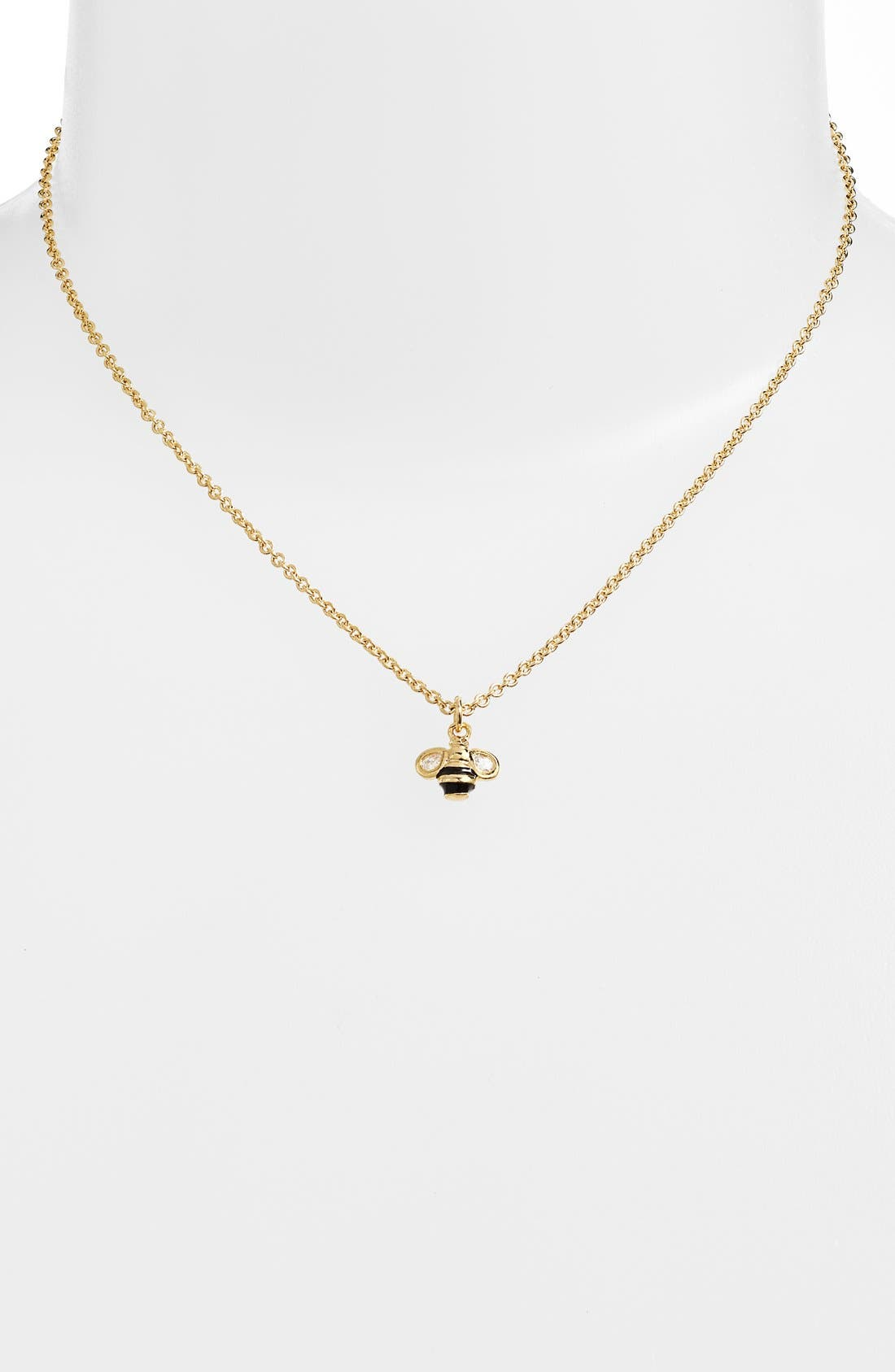 Alternate Image 2  - kate spade new york 'queen bee' mini pendant necklace