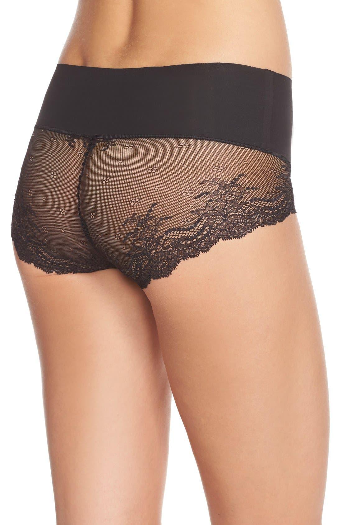 Alternate Image 2  - SPANX® Undie-tectable Lace Hipster Panties