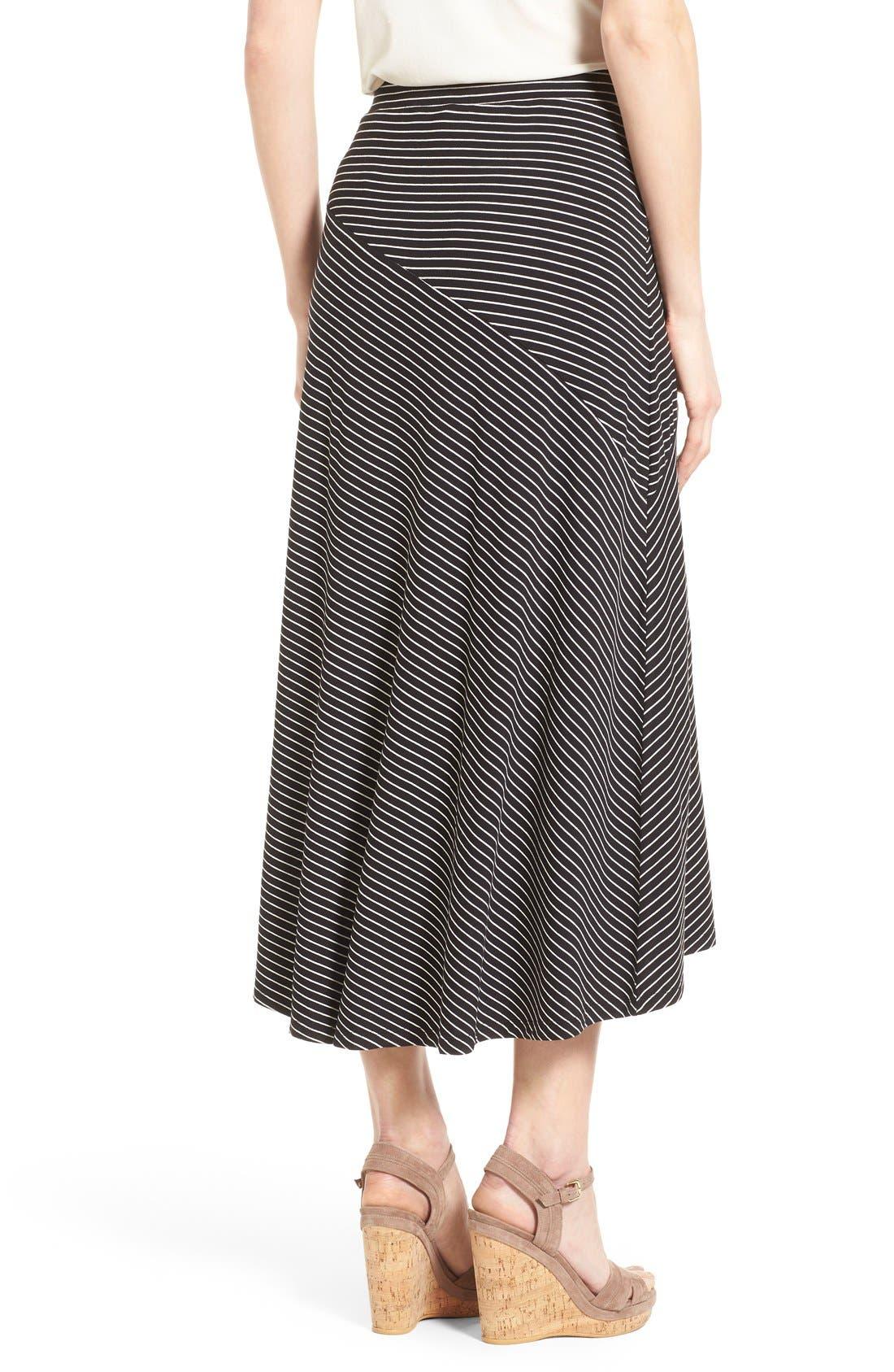Alternate Image 2  - Chaus 'Pool Stripe' Asymmetrical Maxi Skirt