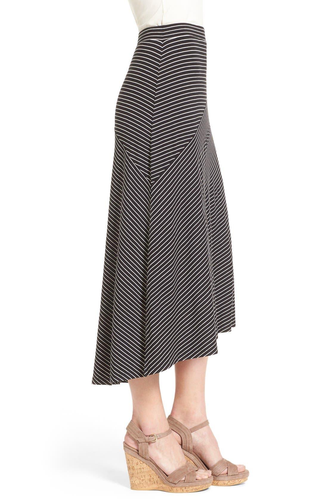 Alternate Image 3  - Chaus 'Pool Stripe' Asymmetrical Maxi Skirt
