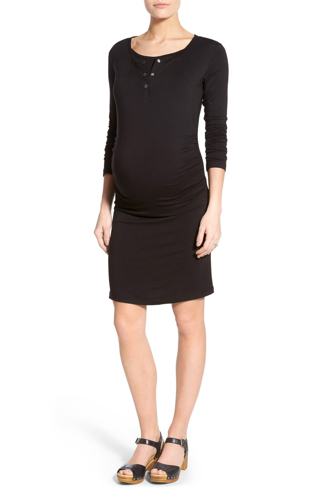 LAB40 'Wendy' Maternity/Nursing Midi Dress