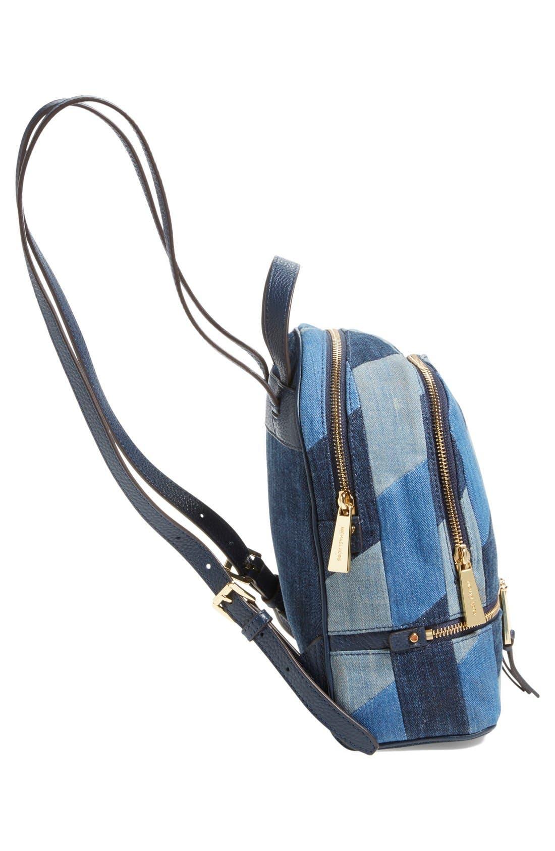 Alternate Image 5  - Michael Kors 'Small Rhea Zip' Denim Backpack