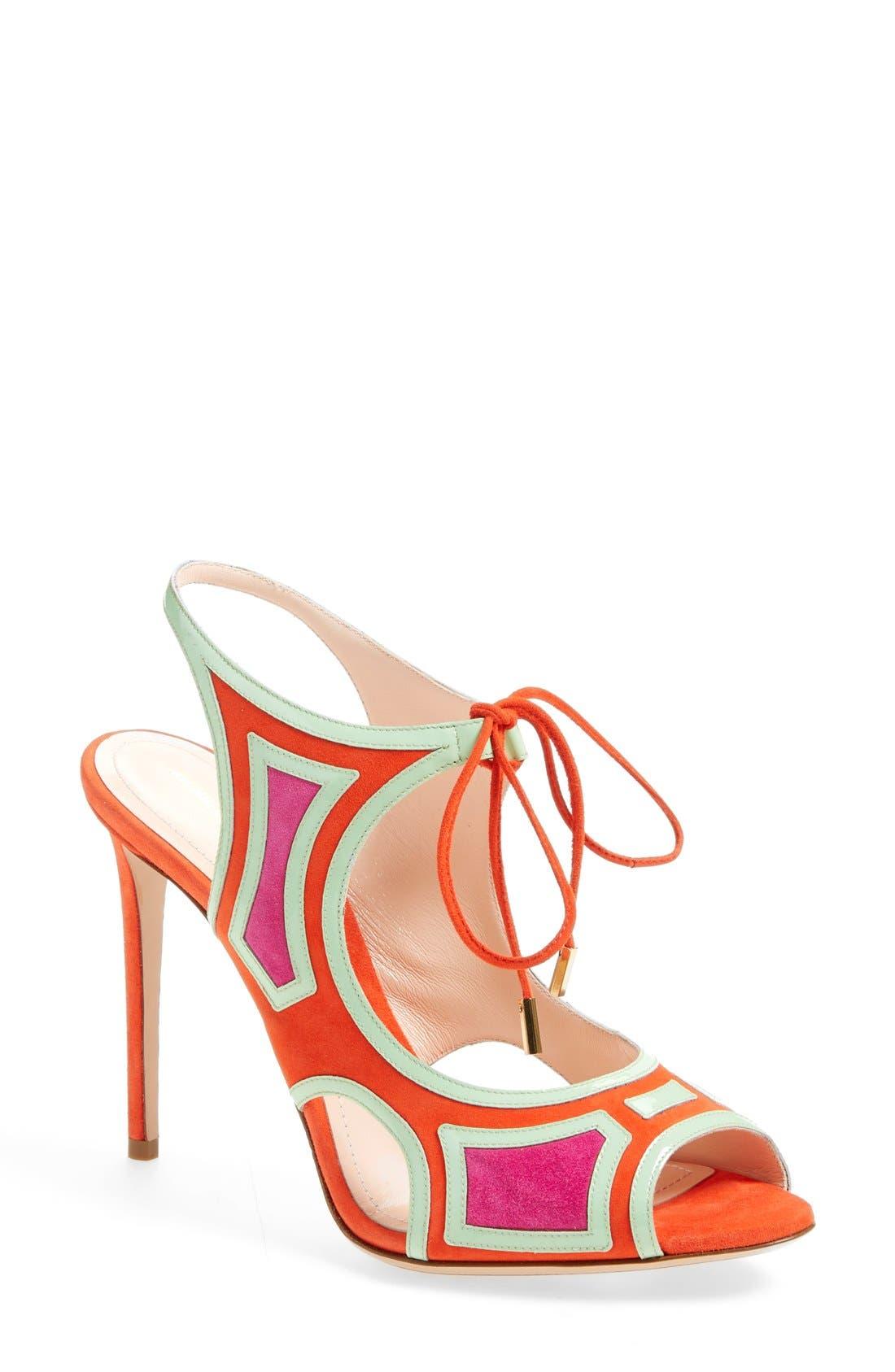 Alternate Image 1 Selected - Nicholas Kirkwood 'Outliner' Lace-Up Sandal (Women)
