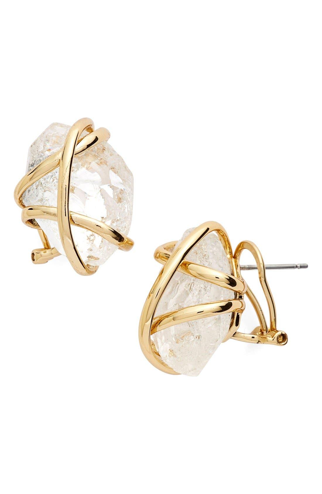 Alternate Image 1 Selected - Alexis Bittar 'Miss Havisham' Rough Cut Crystal Stud Earrings