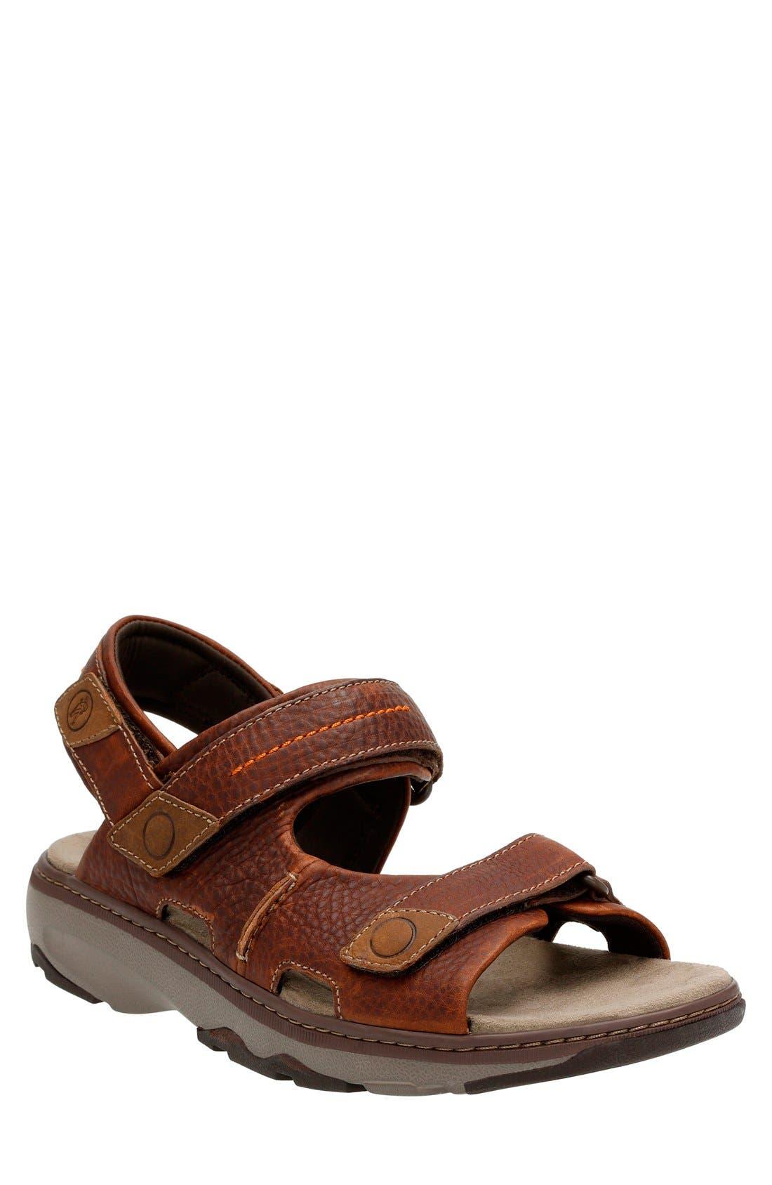 Clarks® 'Raffe Coast' Sport Sandal (Men)