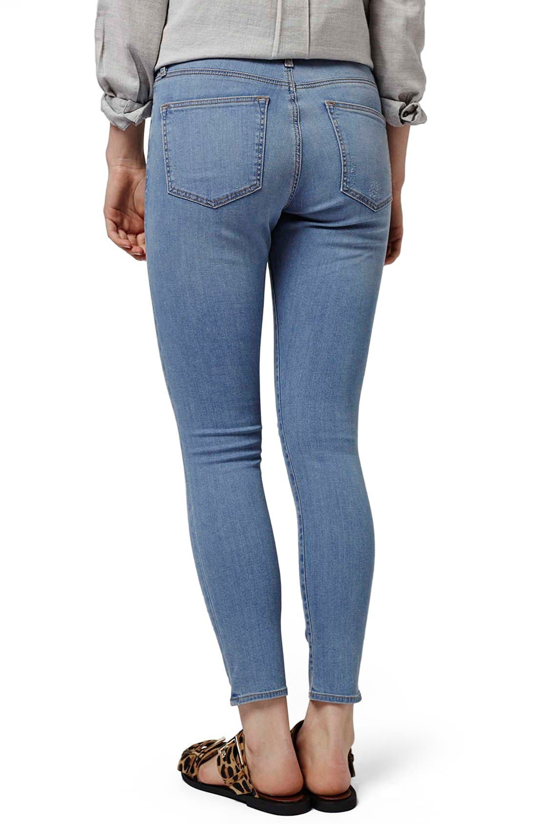 Alternate Image 2  - Topshop 'Leigh' Ankle Skinny Jeans (Petite)